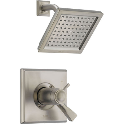 Delta Dryden Stainless Steel Finish Modern Thermostatic Shower Trim Kit 457085