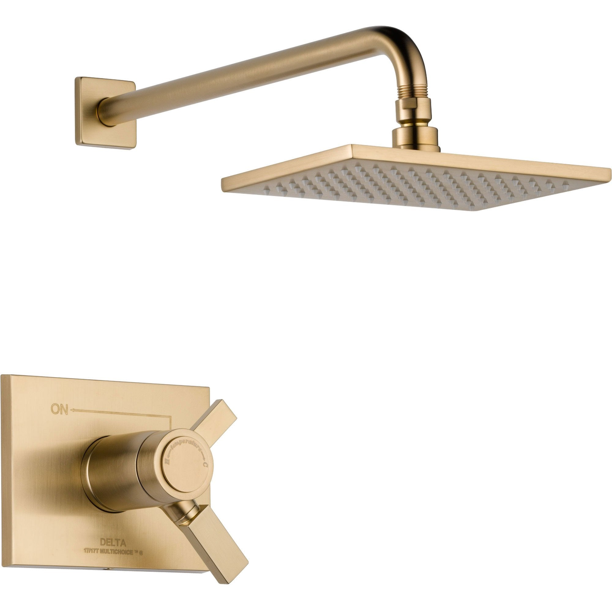 Delta Vero Champagne Bronze Modern Thermostatic Shower Control with Valve D807V
