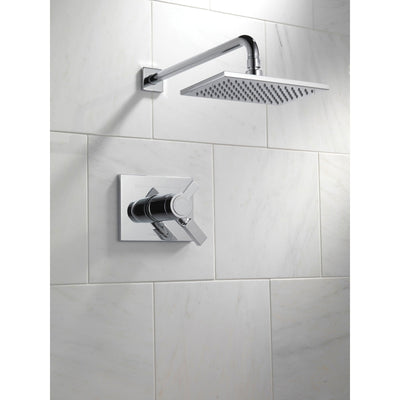 Delta Vero Dual Control Chrome Modern Thermostatic Shower with Valve D835V