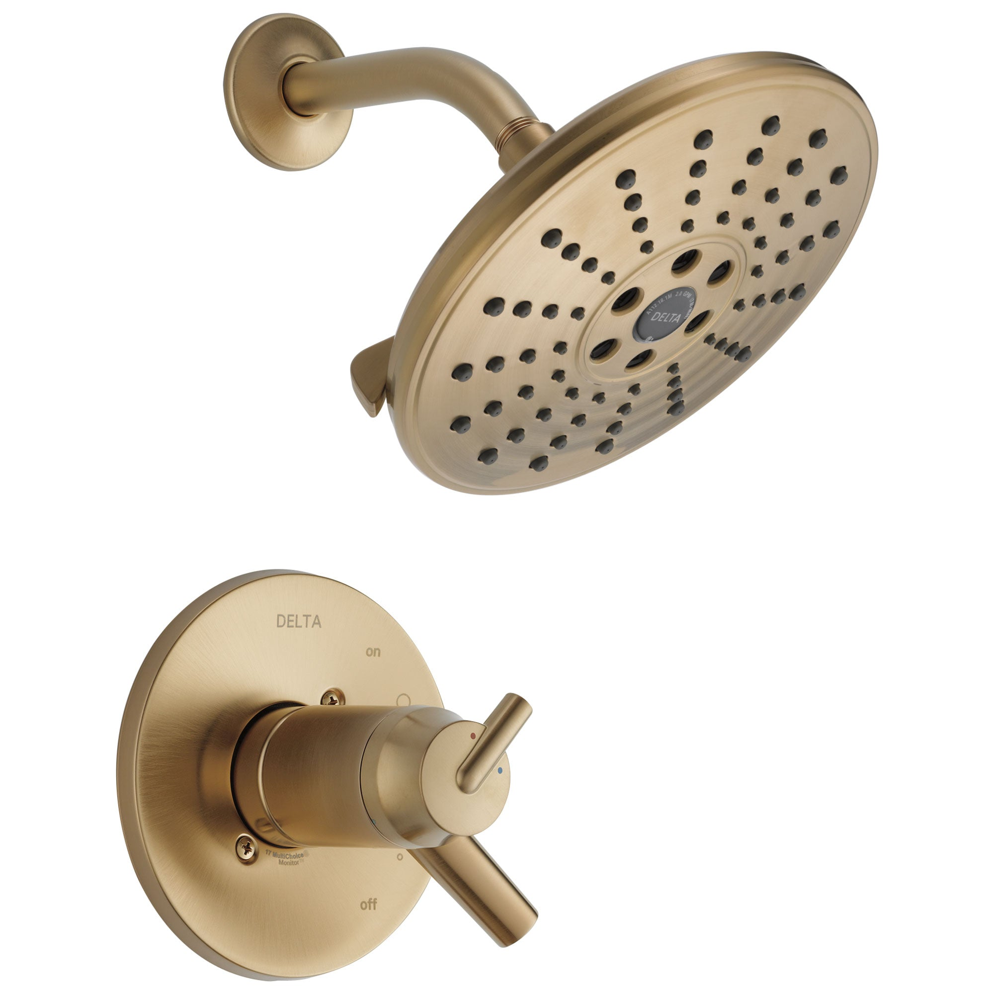 Delta Trinsic Collection Champagne Bronze Thermostatic Dual Temperature / Pressure Control Shower Only Faucet Trim (Requires Valve) DT17T259CZH2O