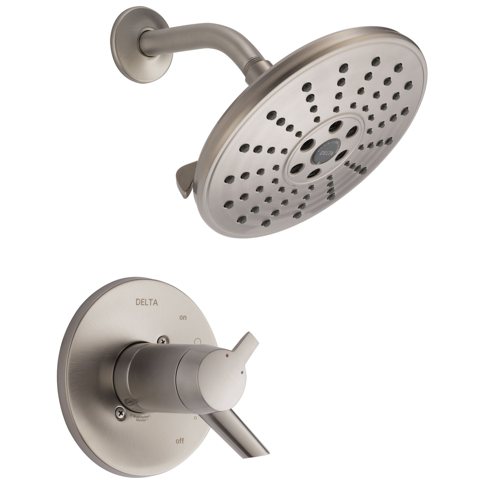 Delta Compel Collection Stainless Steel Finish TempAssure 17T ADA Water Efficient Shower only Faucet Includes Rough-in Valve without Stops D2243V