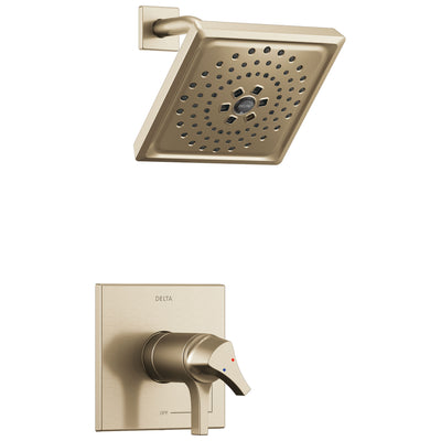 Delta Zura Champagne Bronze Finish TempAssure 17T Series Shower only Faucet Includes Handles, Cartridge, and Rough-in Valve without Stops D3000V