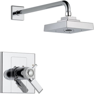 Delta Arzo Dual Control Chrome Modern Thermostatic Shower Trim Kit 550130