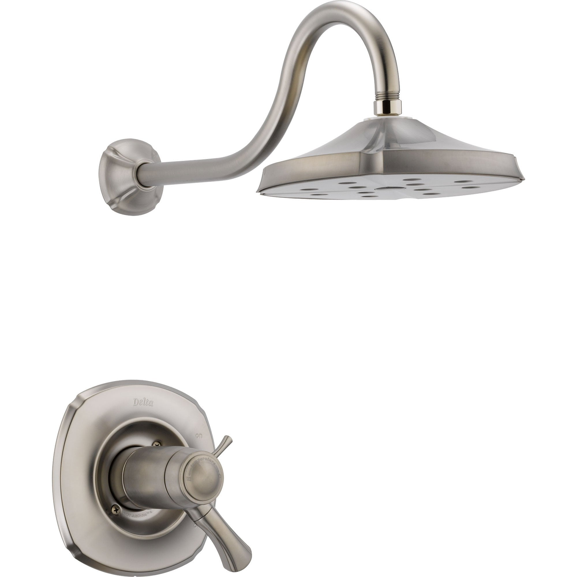 Delta Addison Stainless Steel Finish Thermostatic Shower Faucet with ...
