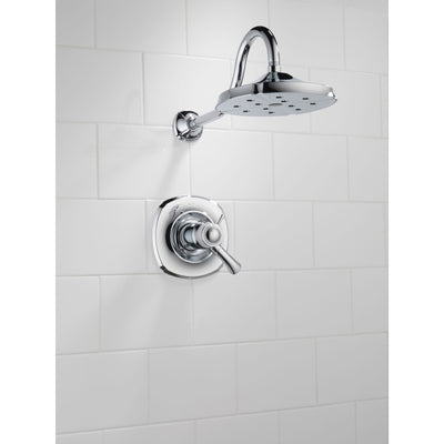 Delta Addison Collection Chrome TempAssure 17T Series Watersense Thermostatic Dual Control Shower only Faucet Includes Valve with Stops D2240V