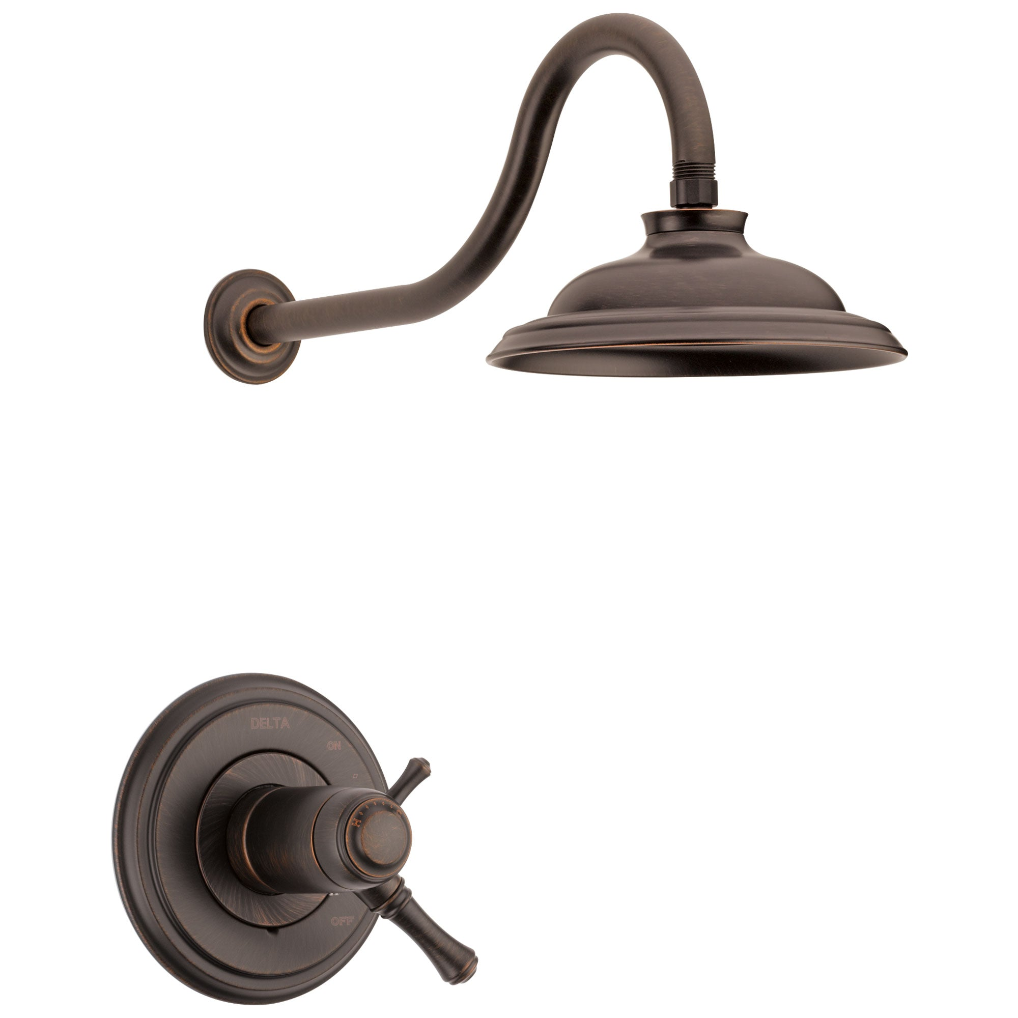 Delta Cassidy Venetian Bronze Finish TempAssure 17T Series Water Efficient Shower only Faucet Trim Kit (Requires Valve) DT17T297RBWE