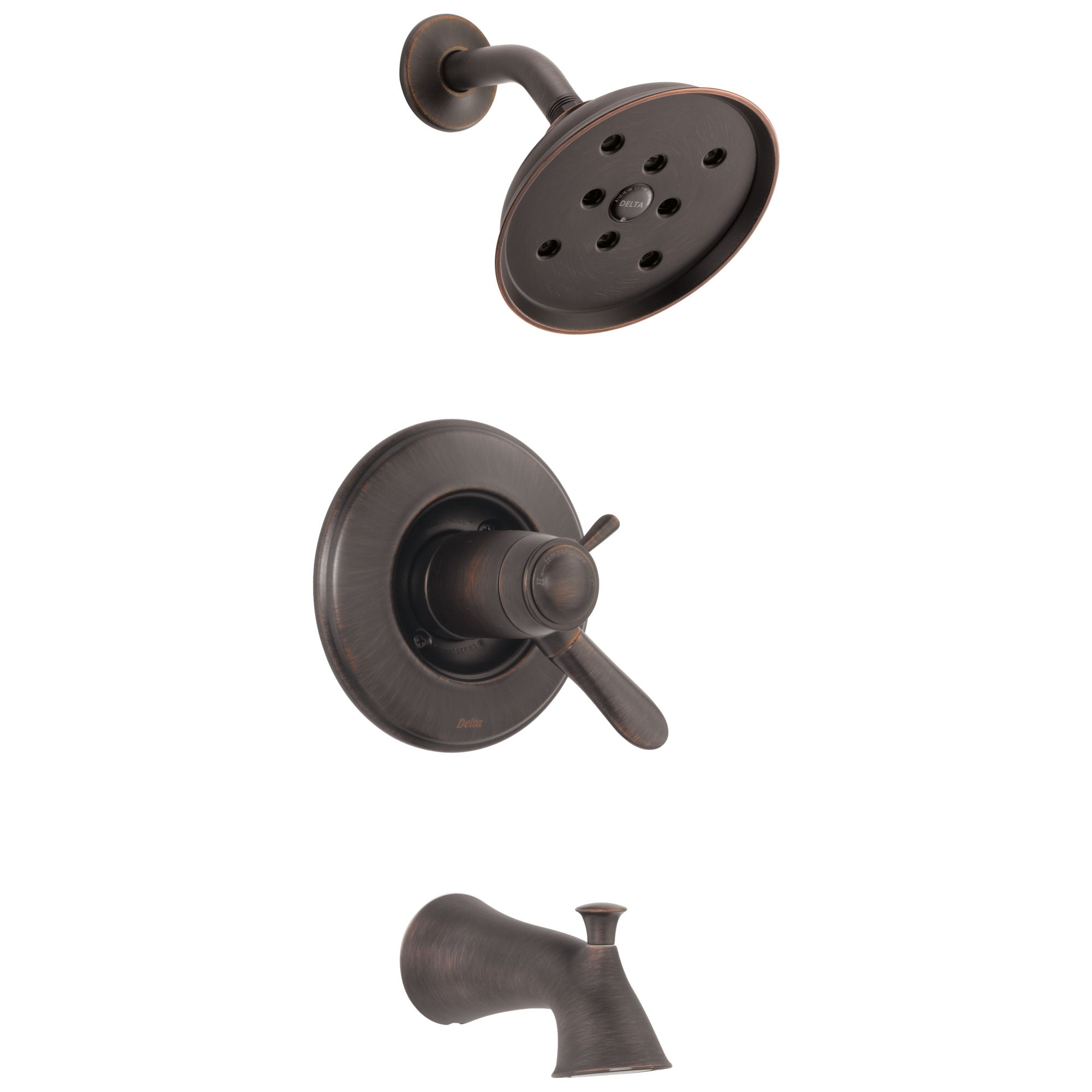 Delta Lahara Venetian Bronze Finish Monitor 17T Series Tub and Shower Faucet Combo Trim Kit (Requires Valve) DT17T438RBH2O