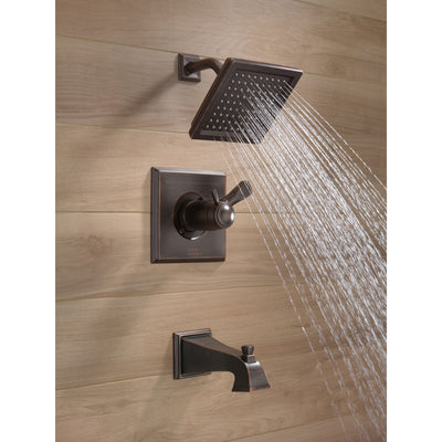 Delta Dryden Venetian Bronze Finish Thermostatic Water Efficient Tub & Shower Faucet Combo Includes Handles, Cartridge, and Valve without Stops D3247V