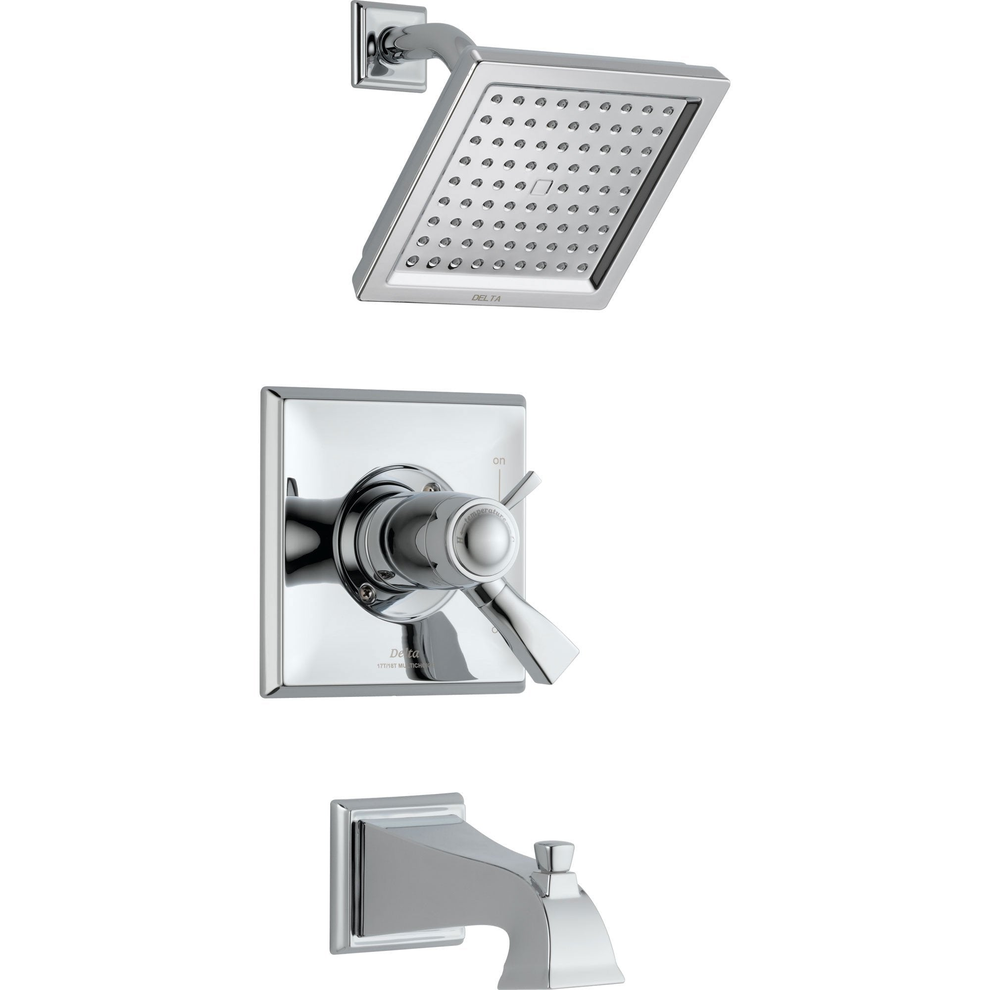 Delta Dryden Thermostatic Dual Control Chrome Tub and Shower with Valve D525V