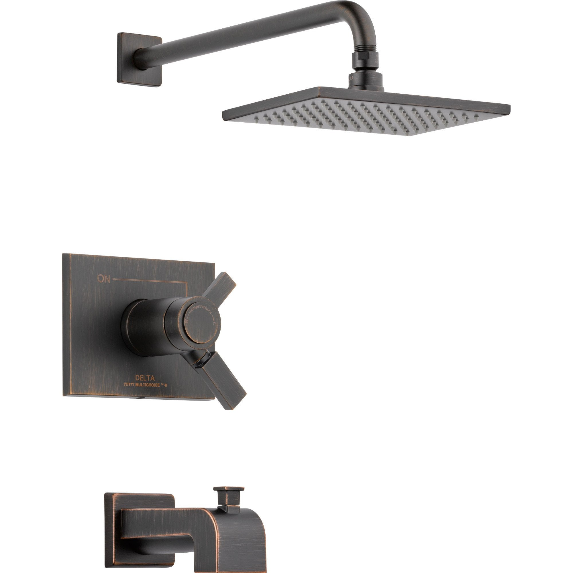 Delta Vero Thermostatic Dual Control Venetian Bronze Tub & Shower w/ Valve D502V