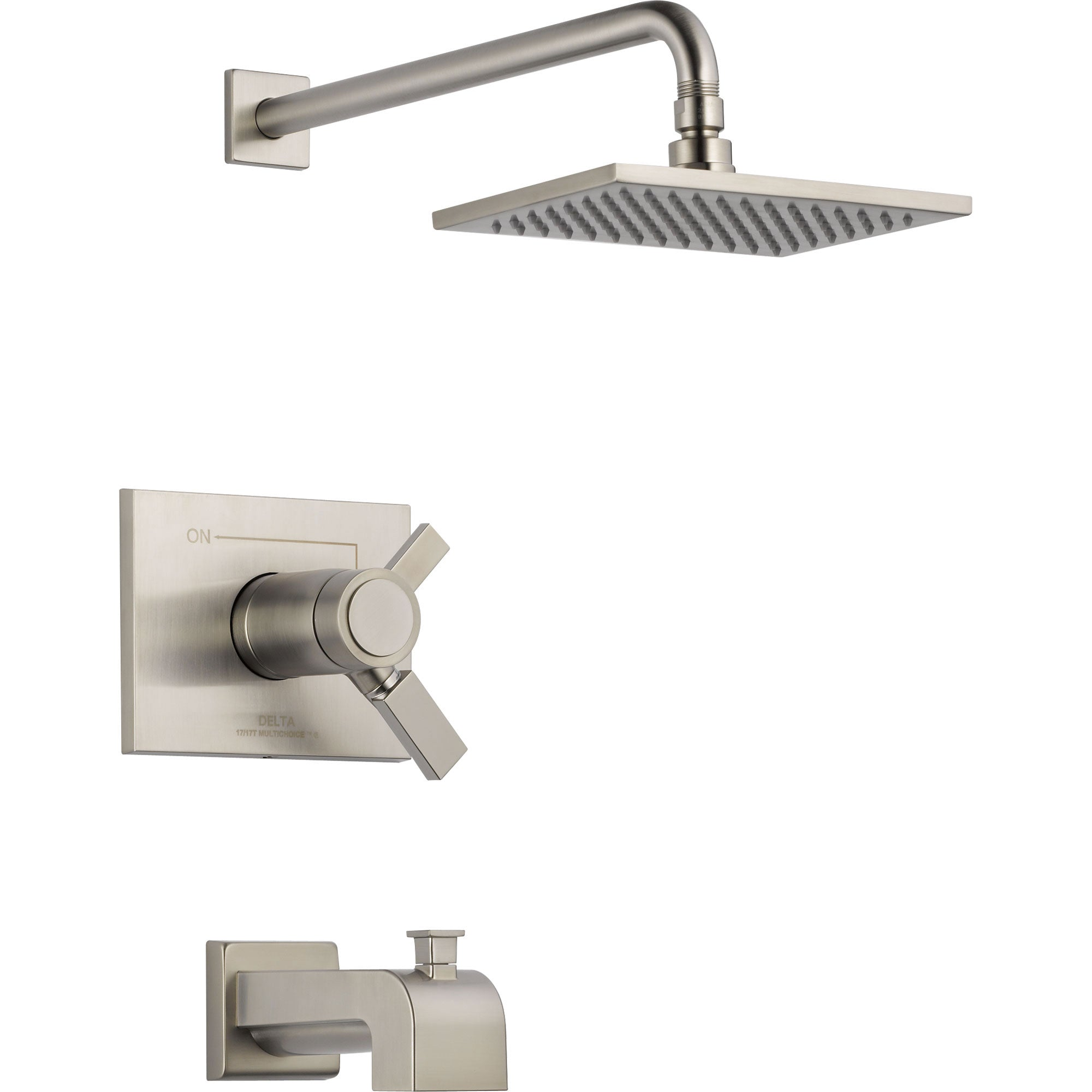 Delta Vero Thermostatic Dual Control Stainless Steel Tub & Shower Trim 521942