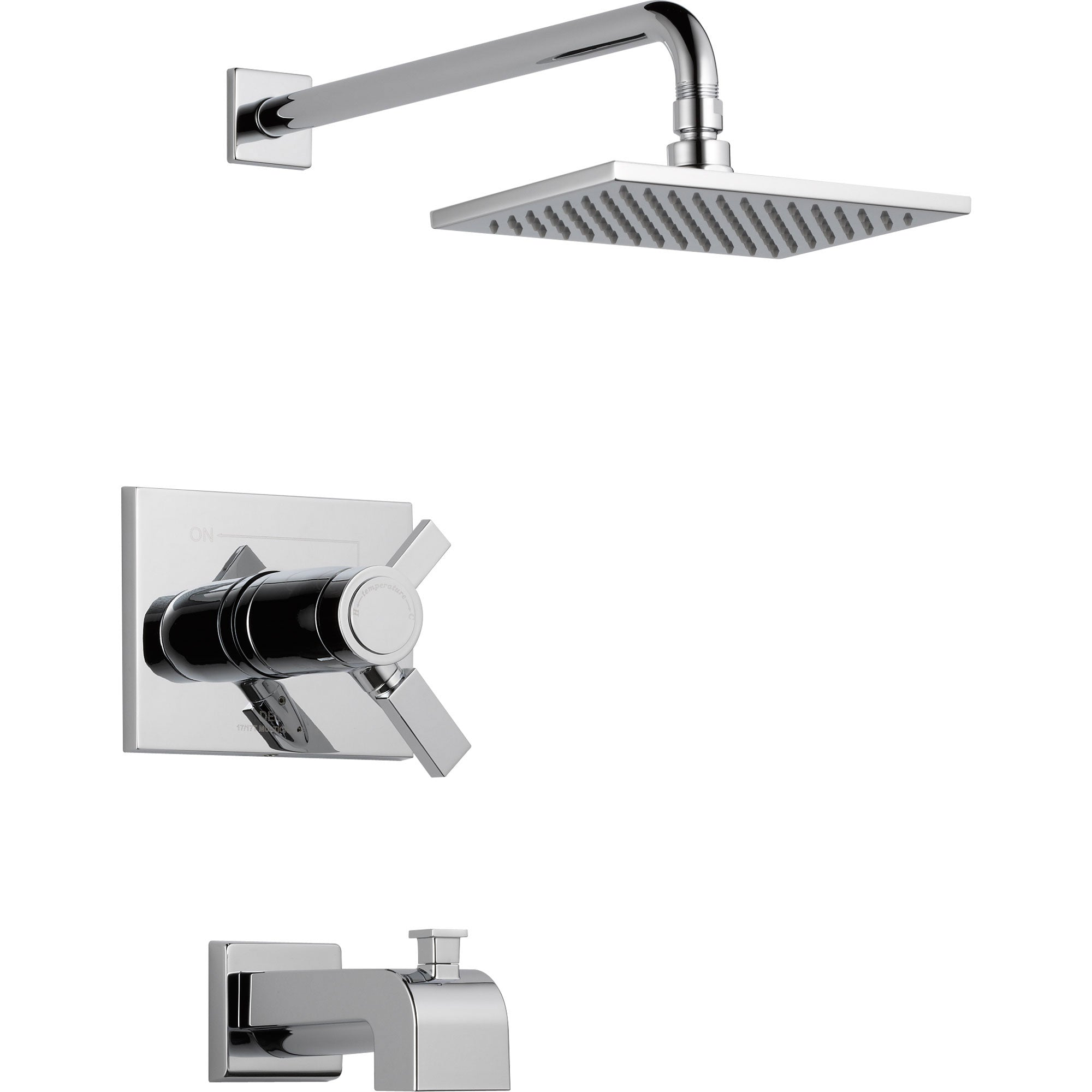 Delta Vero Thermostatic Dual Control Chrome Tub and Shower Faucet Trim 521940