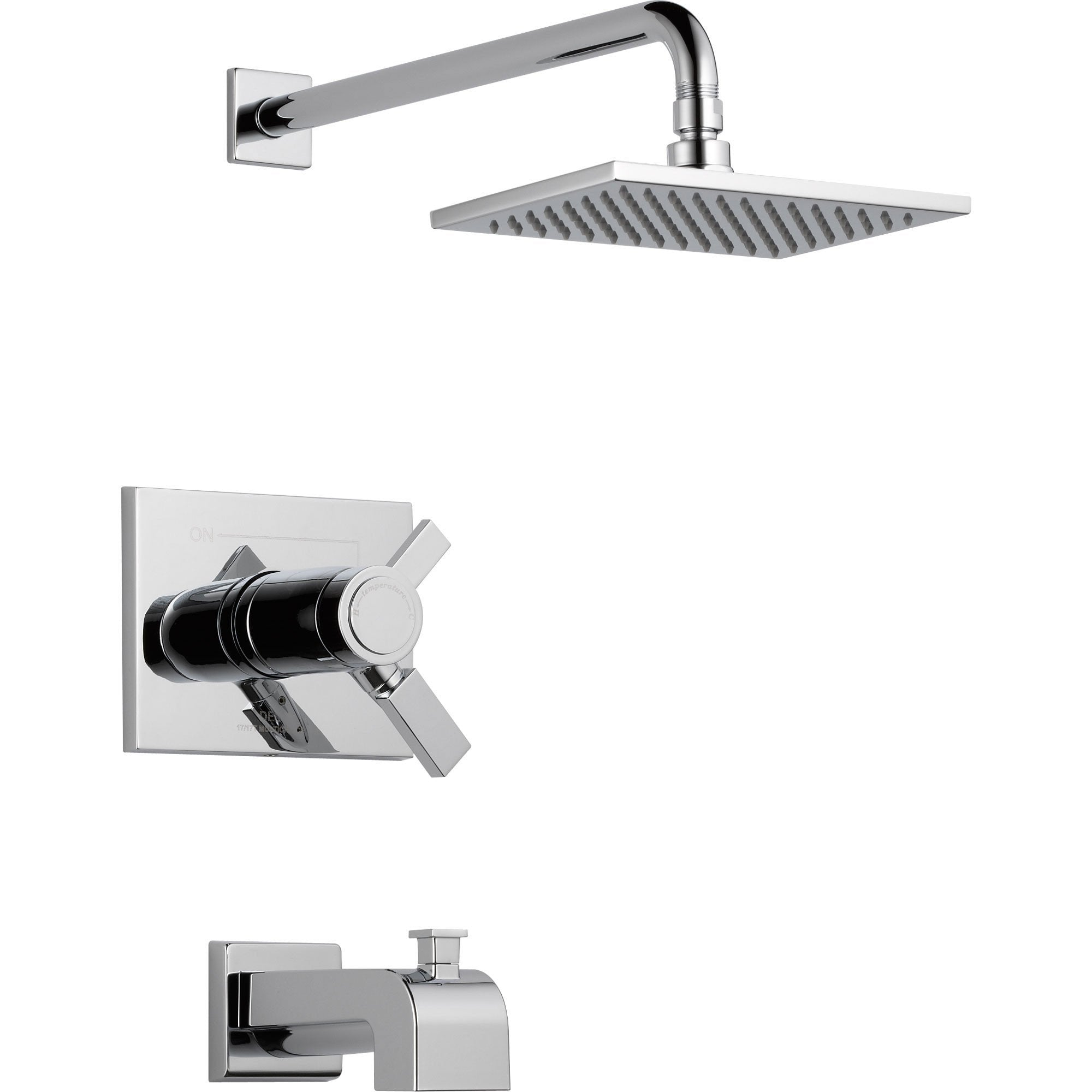 Delta Vero Thermostatic Dual Control Chrome Tub and Shower Faucet w/ Valve D500V