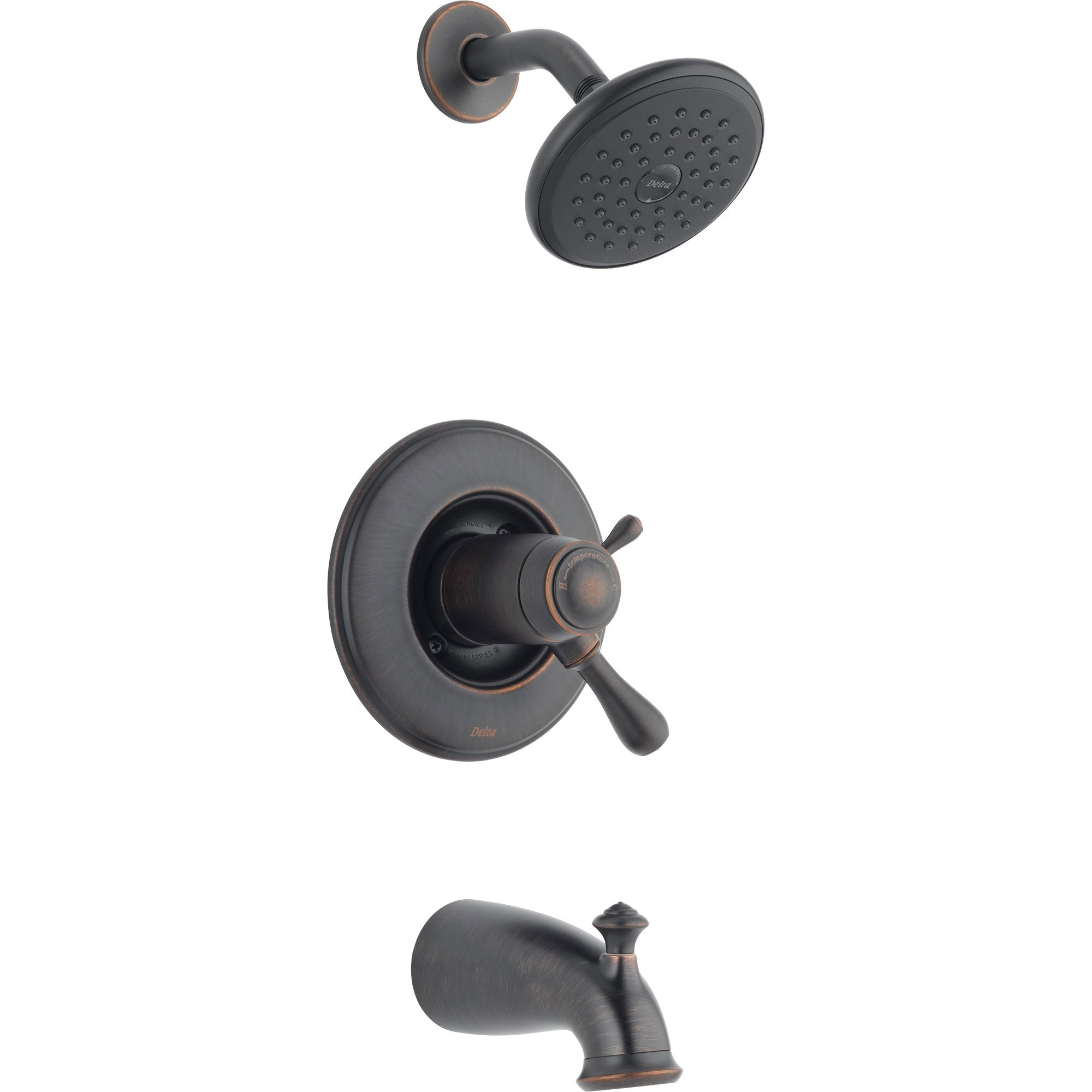 Delta Leland Thermostatic Dual Control Venetian Bronze Tub & Shower Trim 476439