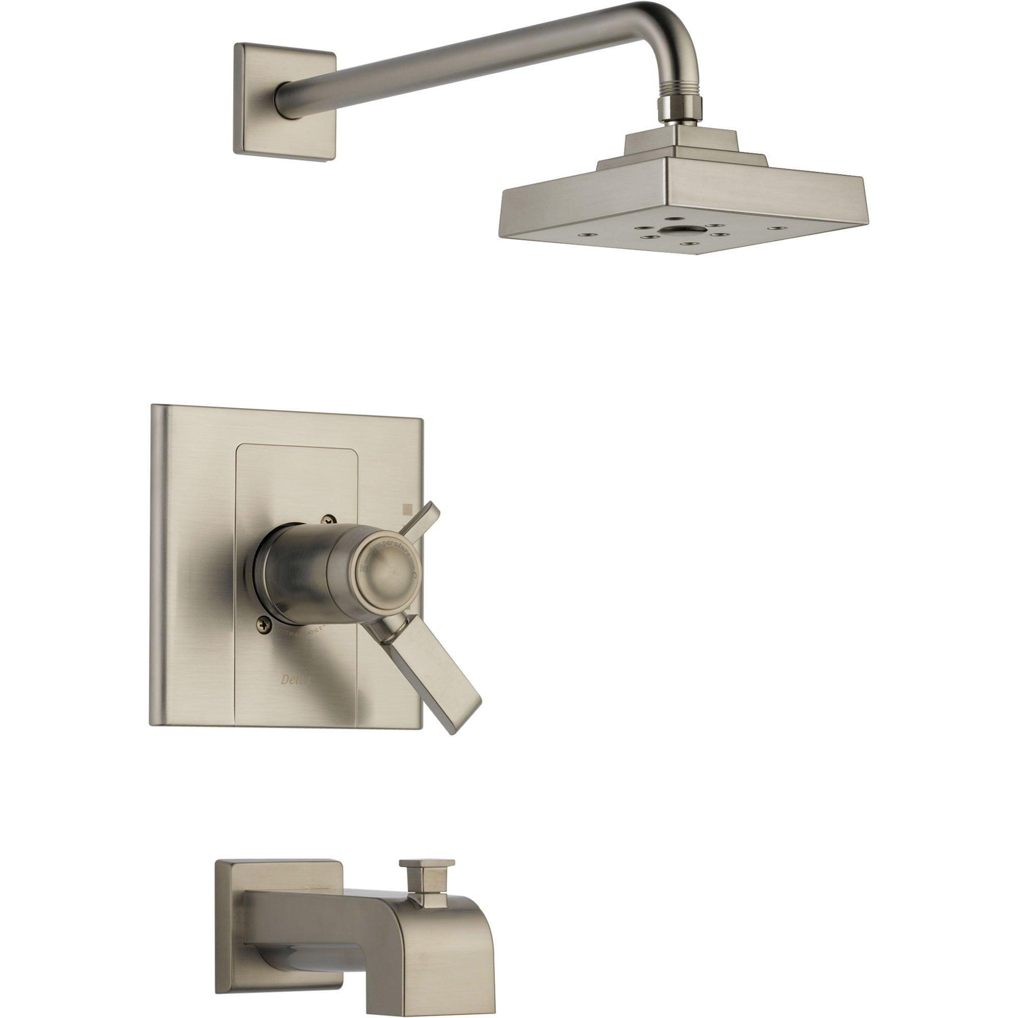 Delta Arzo Thermostatic Control Stainless Steel Tub & Shower with Valve D512V