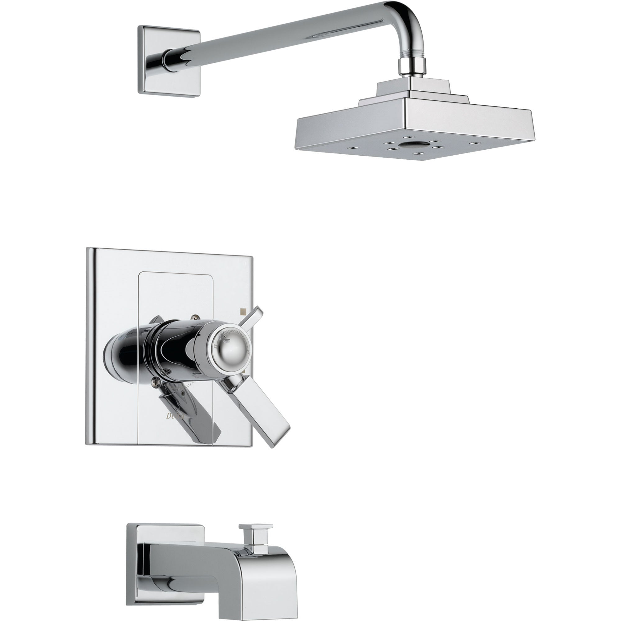 Delta Arzo Thermostatic Dual Control Chrome Tub and Shower Faucet Trim 550135