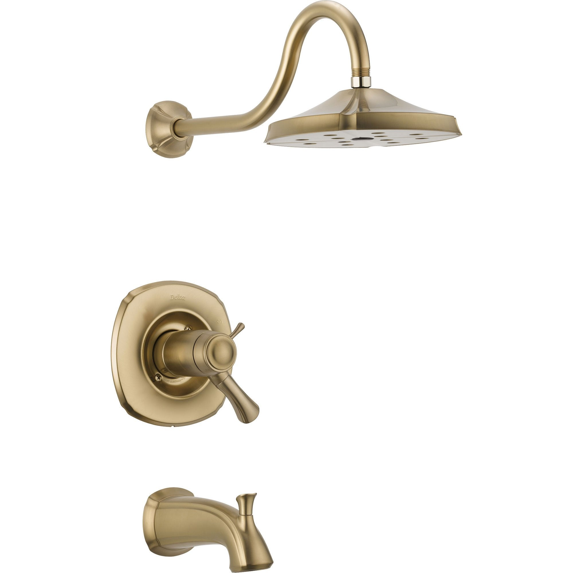 Delta Addison 1-Handle Champagne Bronze Thermostatic Tub/Shower with Valve D543V