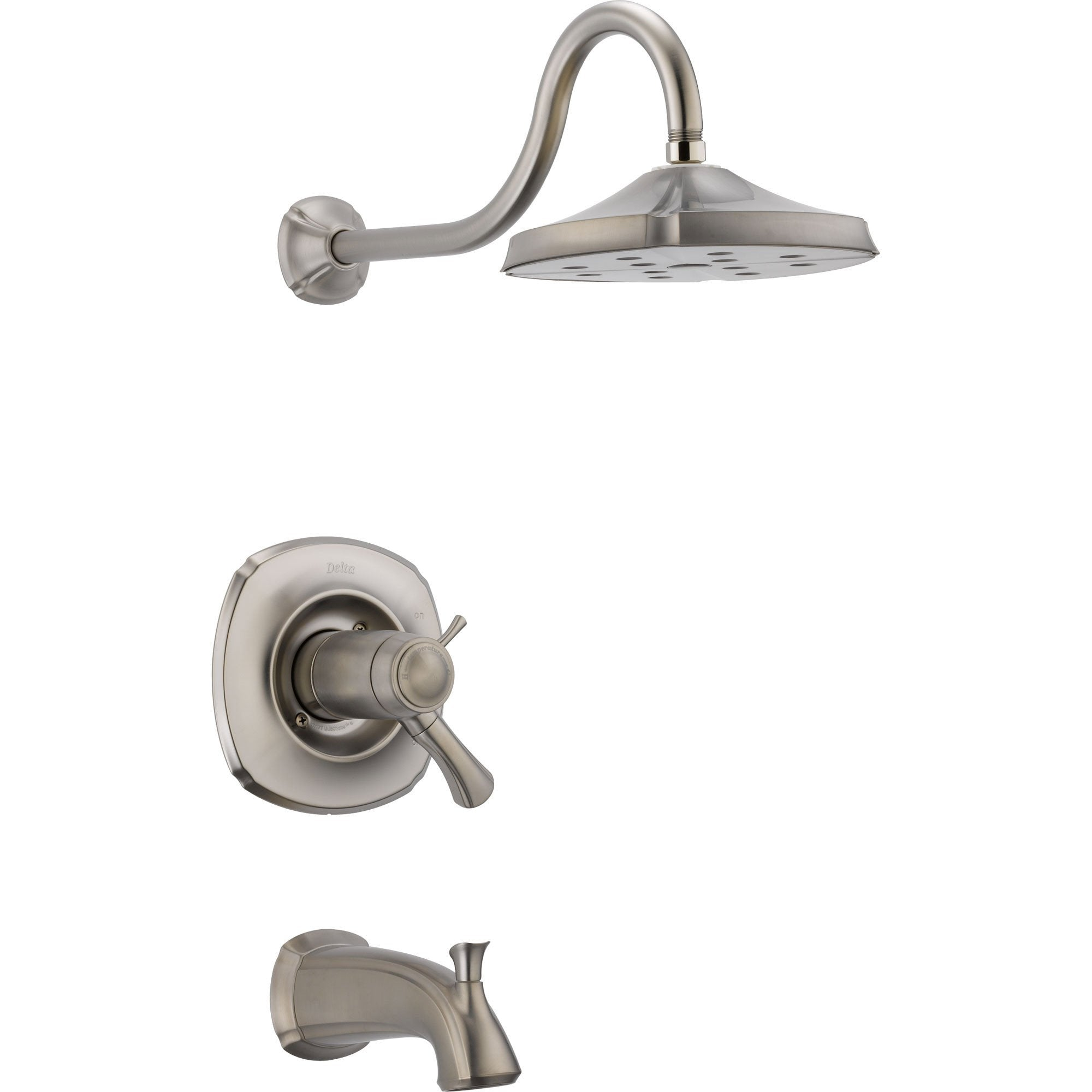 Delta Addison Stainless Steel Finish Thermostatic Tub/Shower with Valve D727V