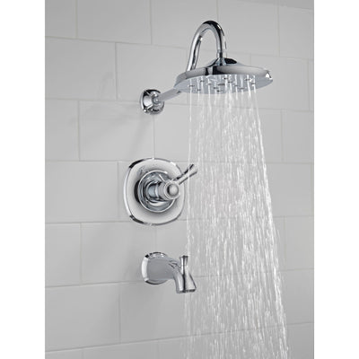 Delta Addison 1-Handle Thermostatic Tub/Shower Trim Kit Only in Chrome 476441