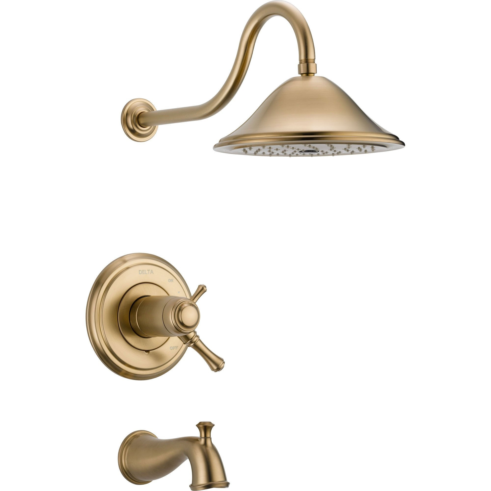 Delta Cassidy Champagne Bronze Thermostatic Large Tub & Shower with Valve D546V