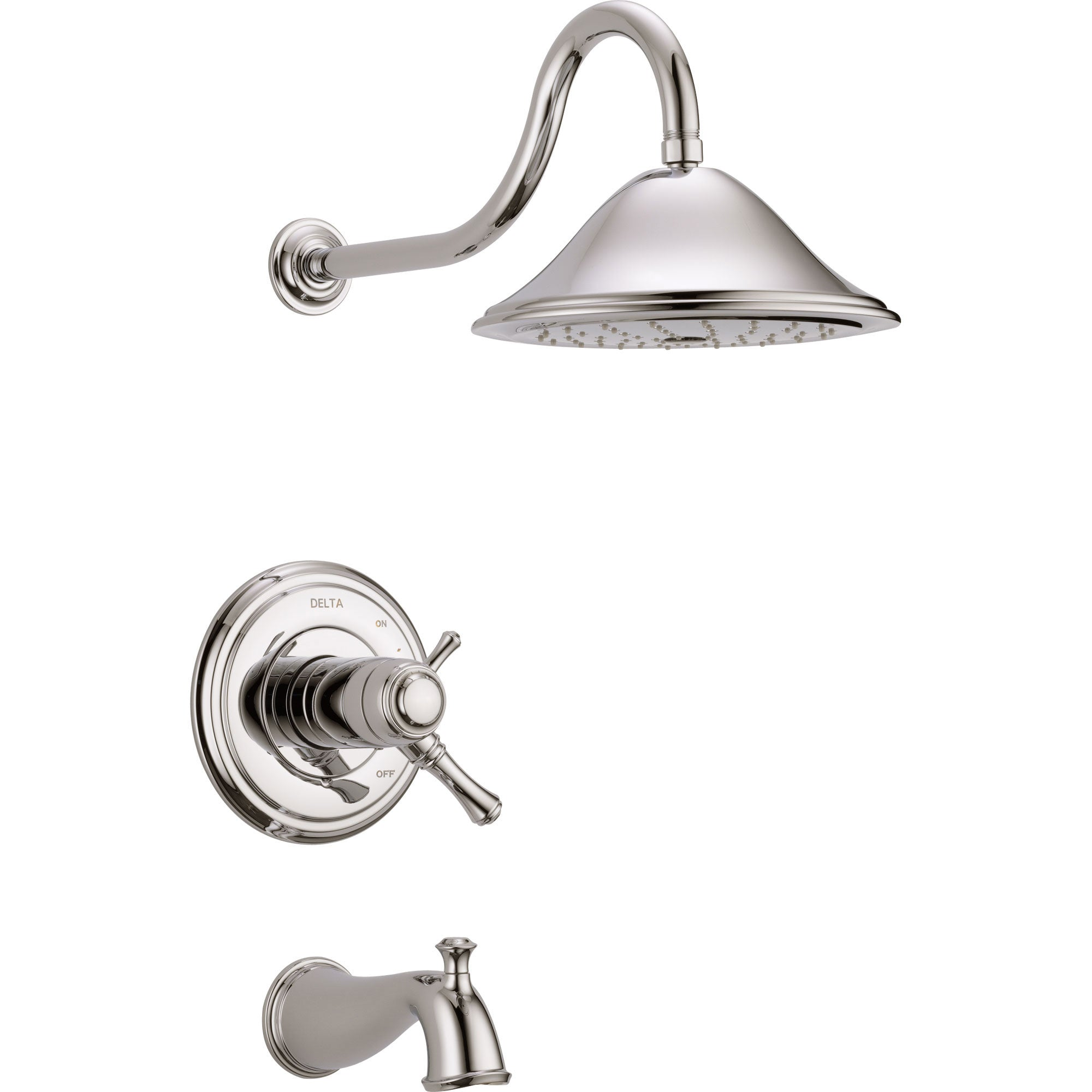 Delta Cassidy Polished Nickel Dual Thermostatic Large Tub/Shower Trim Kit 584227