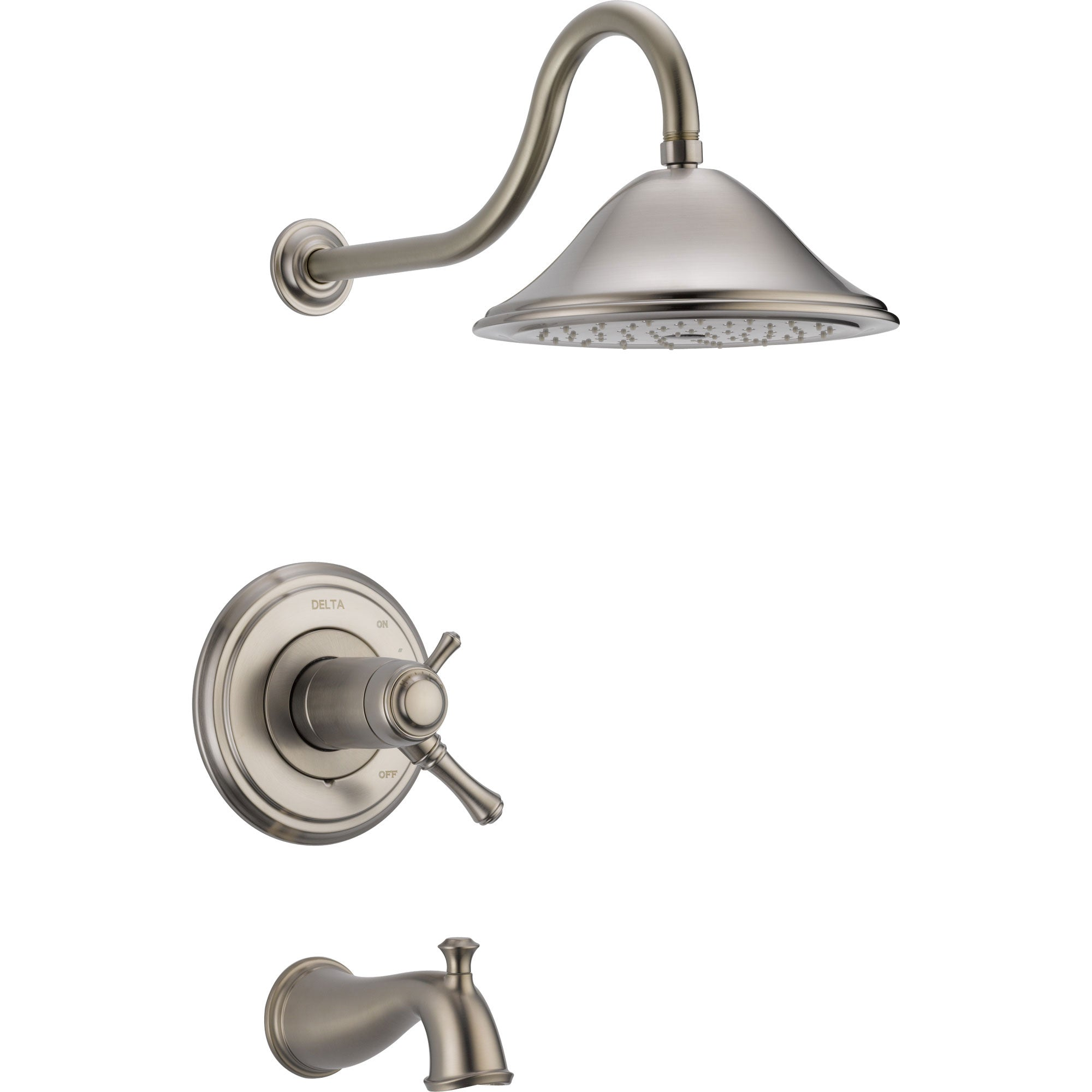 Delta Cassidy Stainless Steel Finish Thermostatic Large Tub/Shower Trim 584230