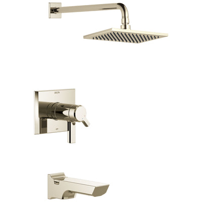 Delta Pivotal Polished Nickel Finish TempAssure 17T Series Tub & Shower Combination Faucet Trim Kit (Requires Valve) DT17T499PN