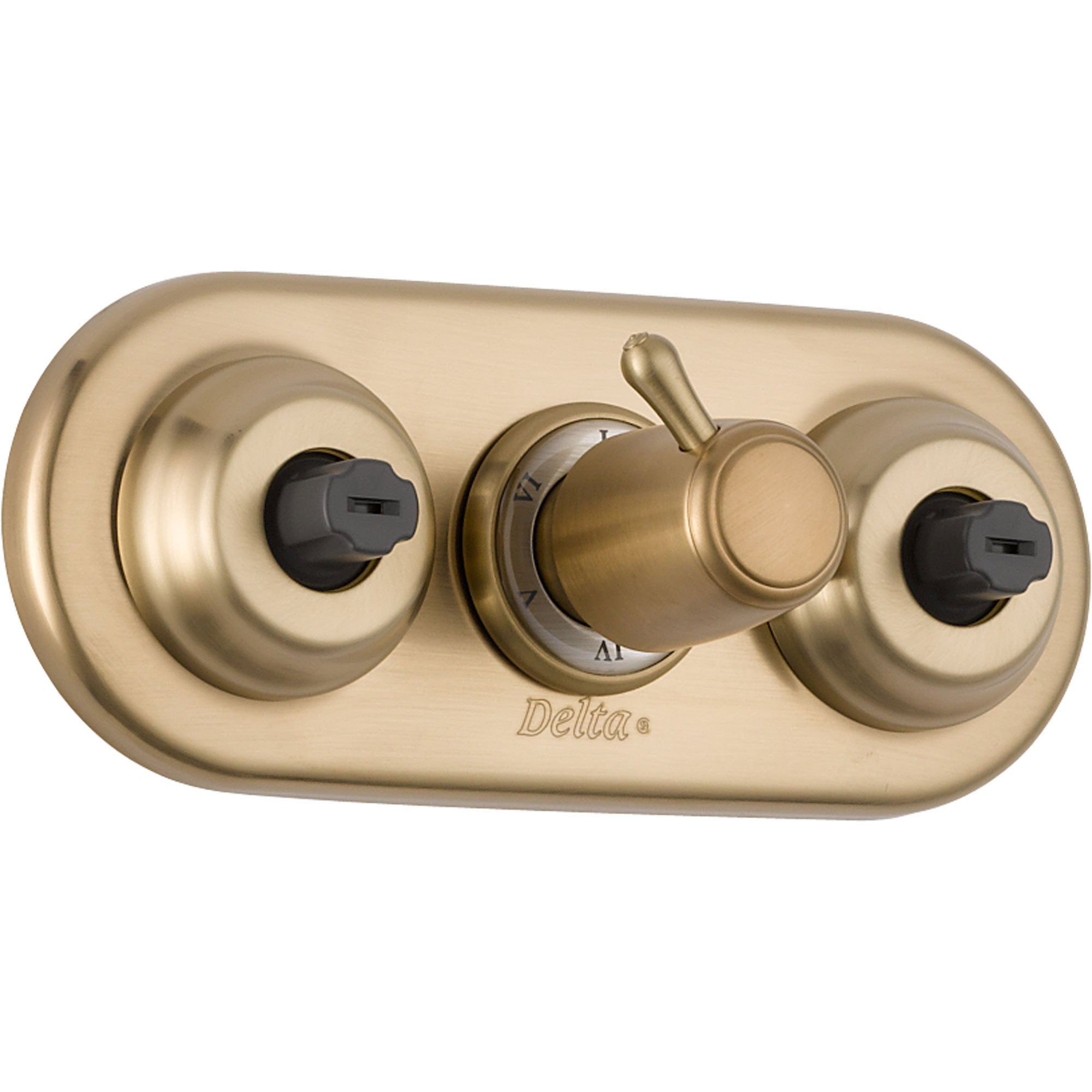 Delta XO Champagne Bronze Shower Diverter with Body Sprays, Includes Valve D935V
