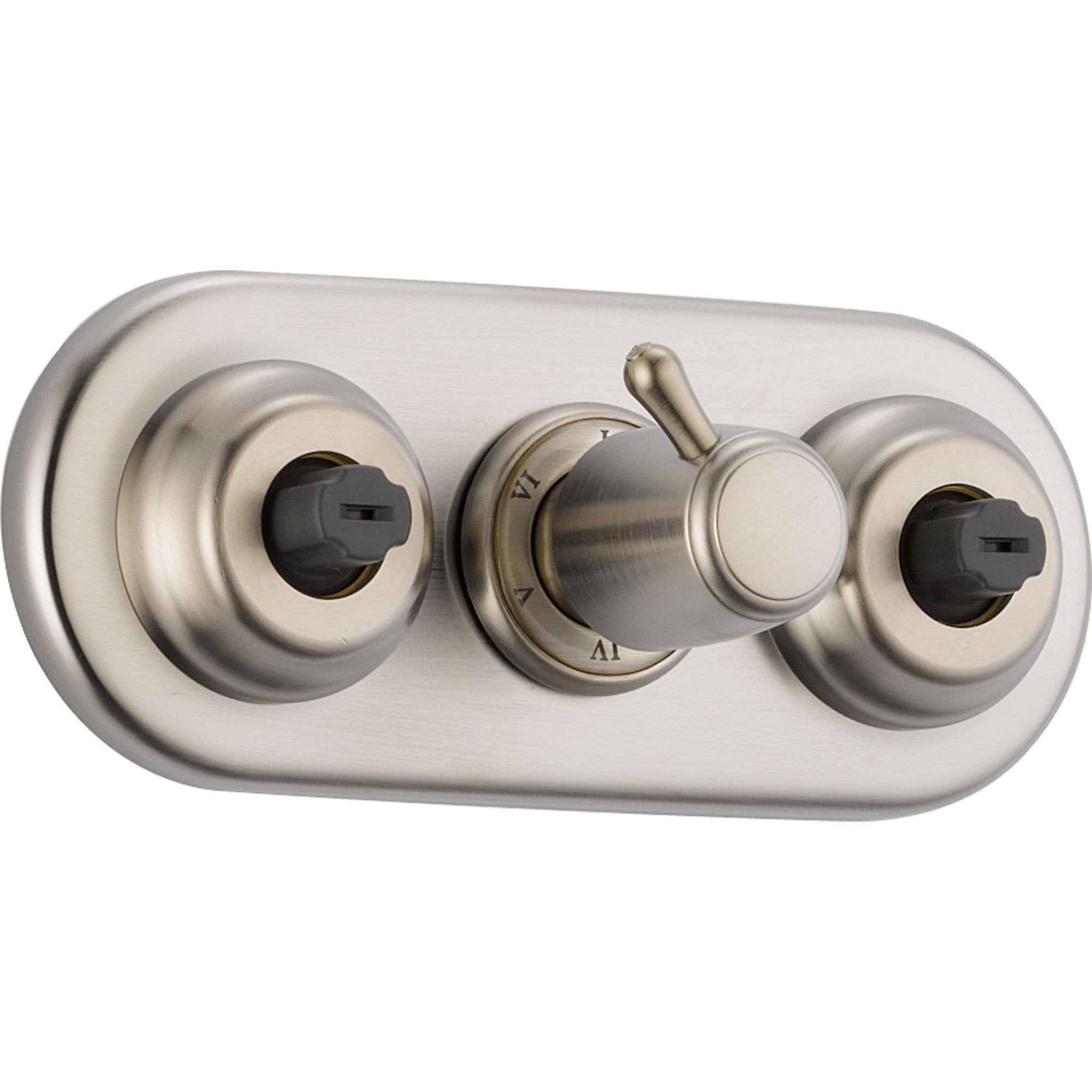 delta xo stainless steel shower diverter with body sprays includes valve d937v - Shower Diverter