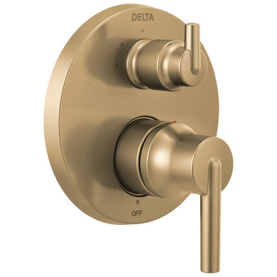 Delta Trinsic Champagne Bronze Finish Monitor 14 Series Shower System Control with 3-Setting Integrated Diverter Includes Valve and Handles D3207V