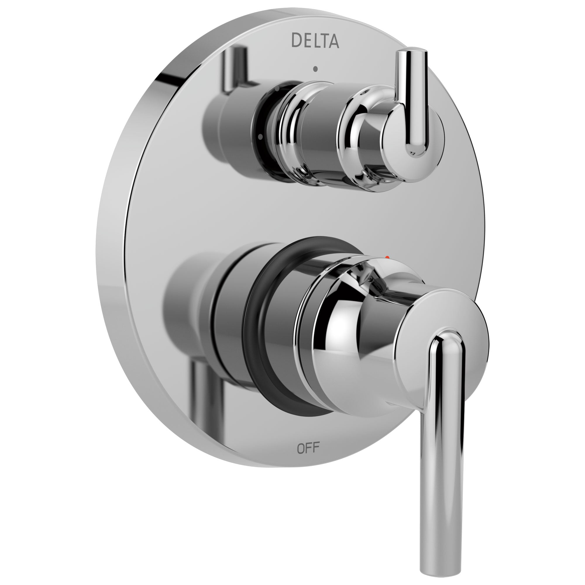 Delta Trinsic Collection Chrome Monitor 14 Shower Faucet Valve Trim Control Handle with 3-Setting Integrated Diverter (Requires Valve) DT24859