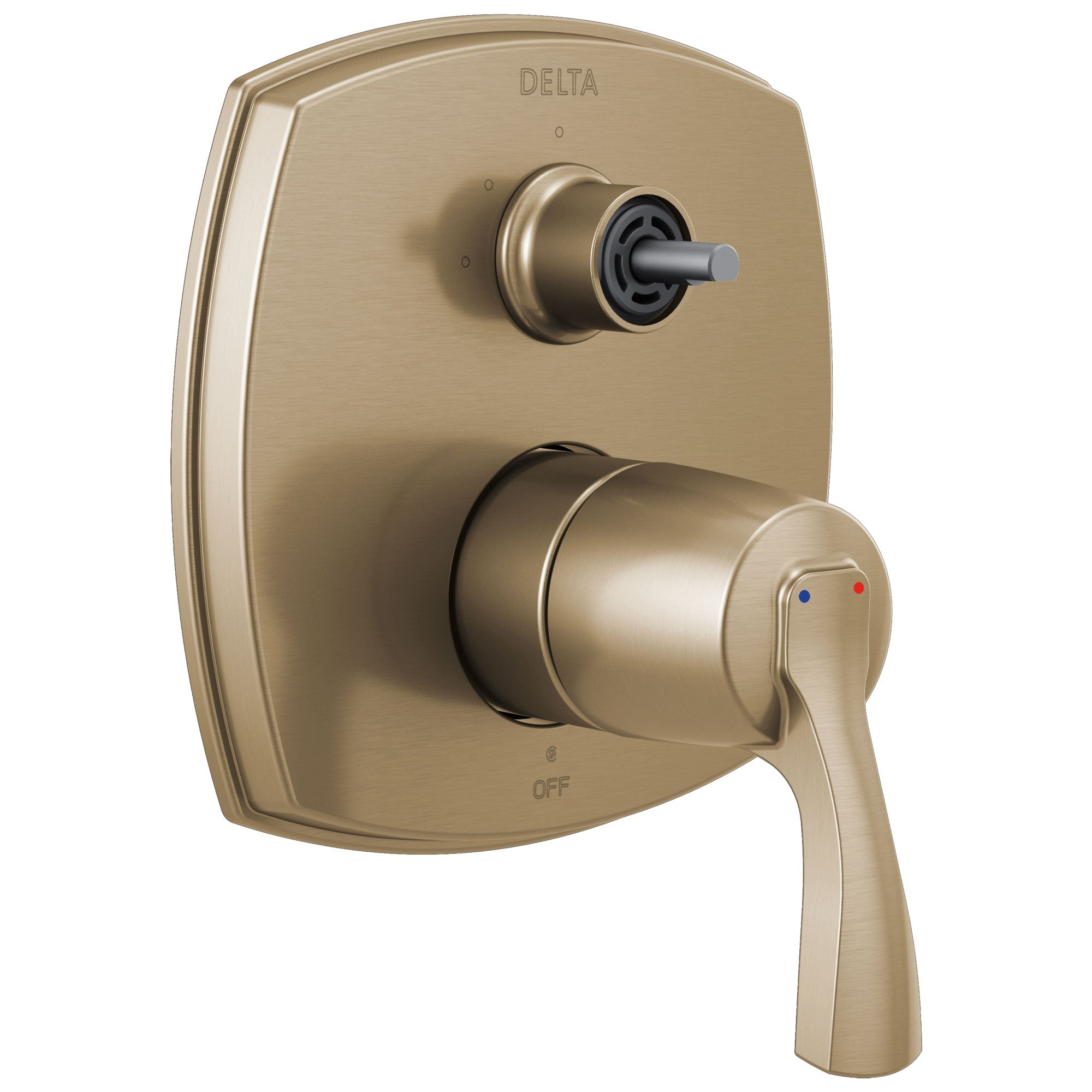 Delta Stryke Champagne Bronze Finish 14 Series 3 Function Integrated Diverter Shower Control Trim Kit Less Diverter Handle (Requires Valve) DT24876CZLHP
