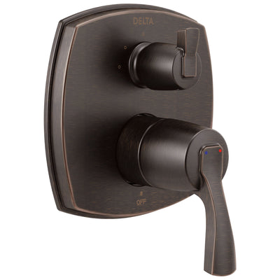 Delta Stryke Venetian Bronze Finish 14 Series Shower System Control with 3 Function Integrated Lever Handle Diverter Includes Valve and Handles D3196V