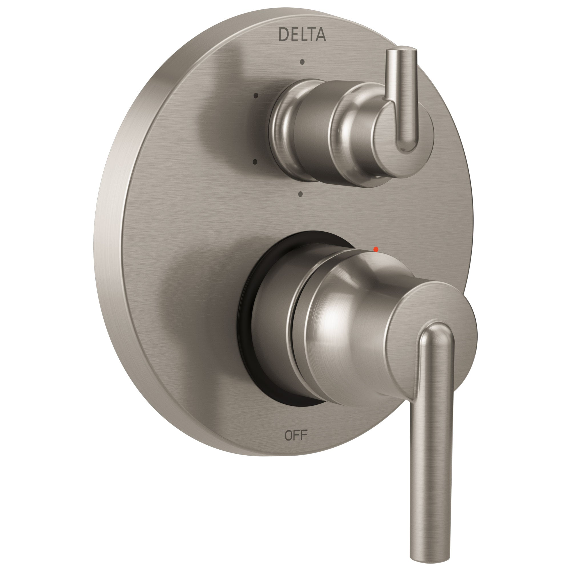 Delta Trinsic Collection Stainless Steel Finish Shower Faucet Control Handle with 6-Setting Integrated Diverter Trim (Requires Valve) DT24959SS