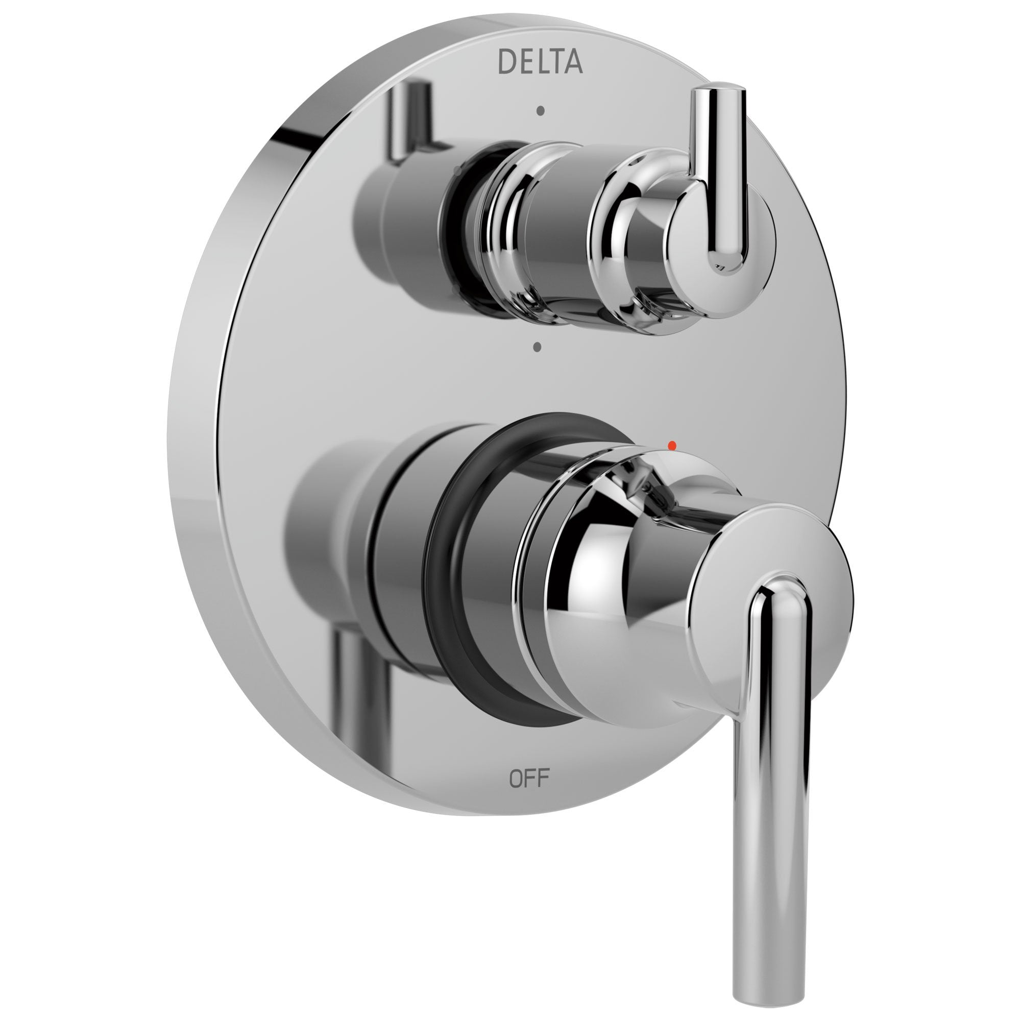 Delta Trinsic Chrome Contemporary Monitor 14 Shower Faucet Control Handle with 6-Setting Integrated Diverter Includes Trim Kit and Valve without Stops D2200V