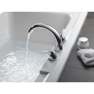 Delta Classic Chrome Deck Mount Roman Tub Filler Faucet with Valve D894V