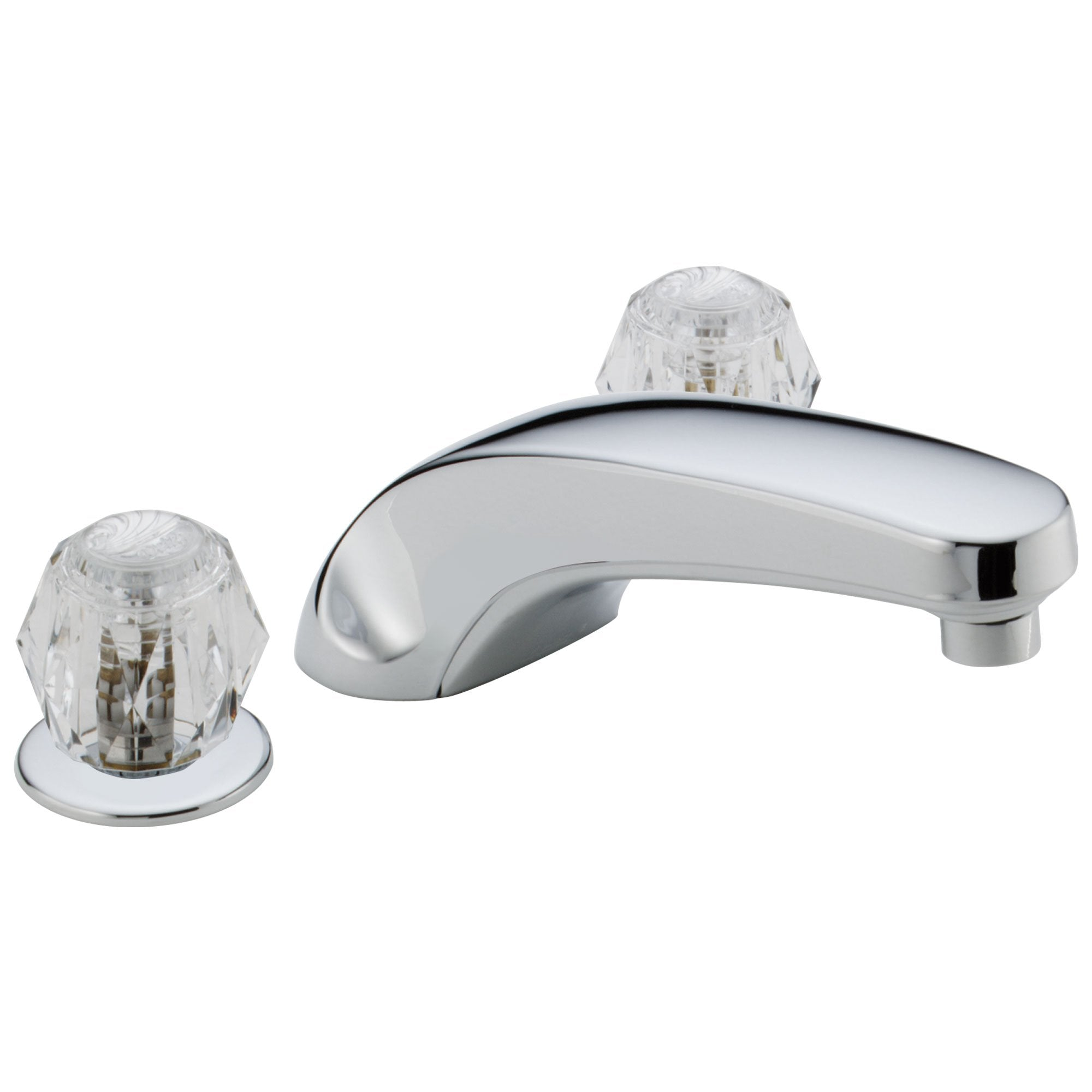 Delta Chrome Finish Deck Mounted Widespread Roman Tub Filler Faucet Includes Rough-in Valve D2183V