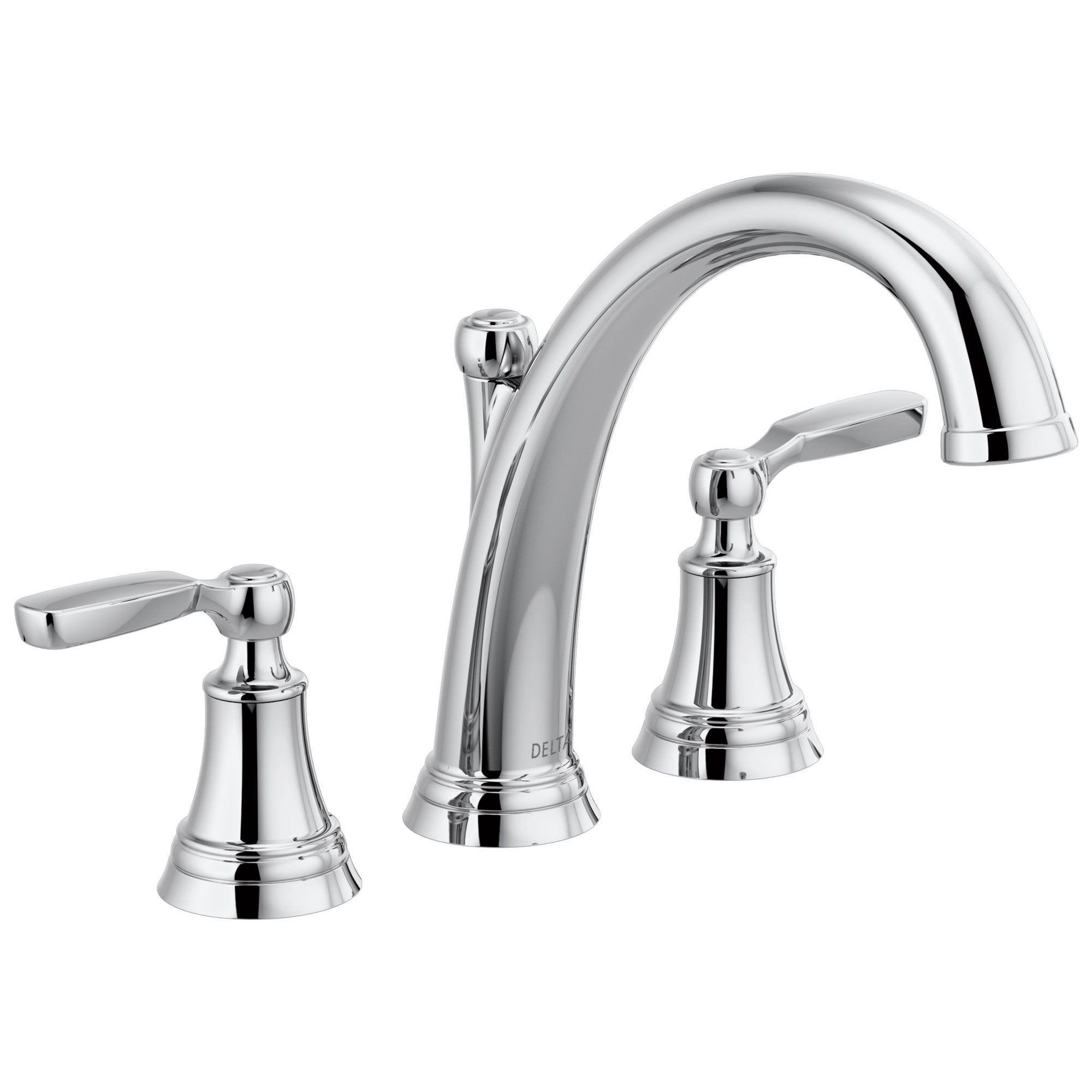 Delta Woodhurst Chrome Finish Roman Tub Filler Faucet Trim Kit (Requires Valve) DT2732