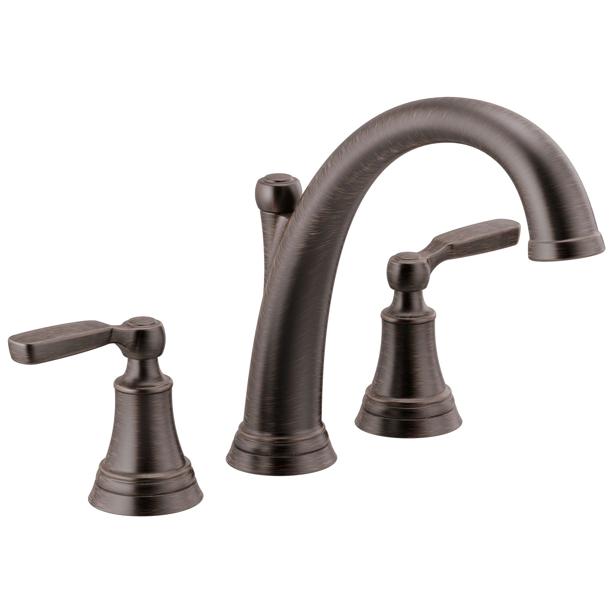 Delta Woodhurst Venetian Bronze Finish Roman Tub Filler Faucet Trim Kit (Requires Valve) DT2732RB