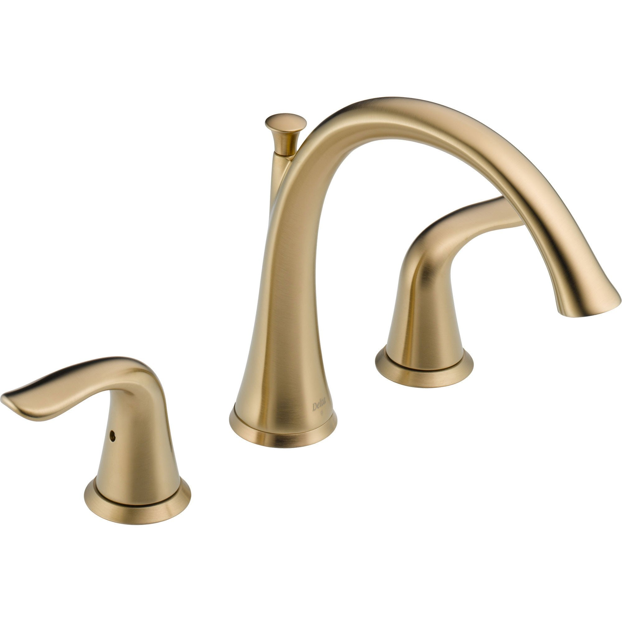 Delta Lahara Champagne Bronze Deck Mount Roman Tub Filler Faucet Trim Kit 564424
