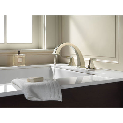 Delta Dryden Polished Nickel Finish Roman Tub Filler Faucet INCLUDES Valve and Lever Handles D1099V