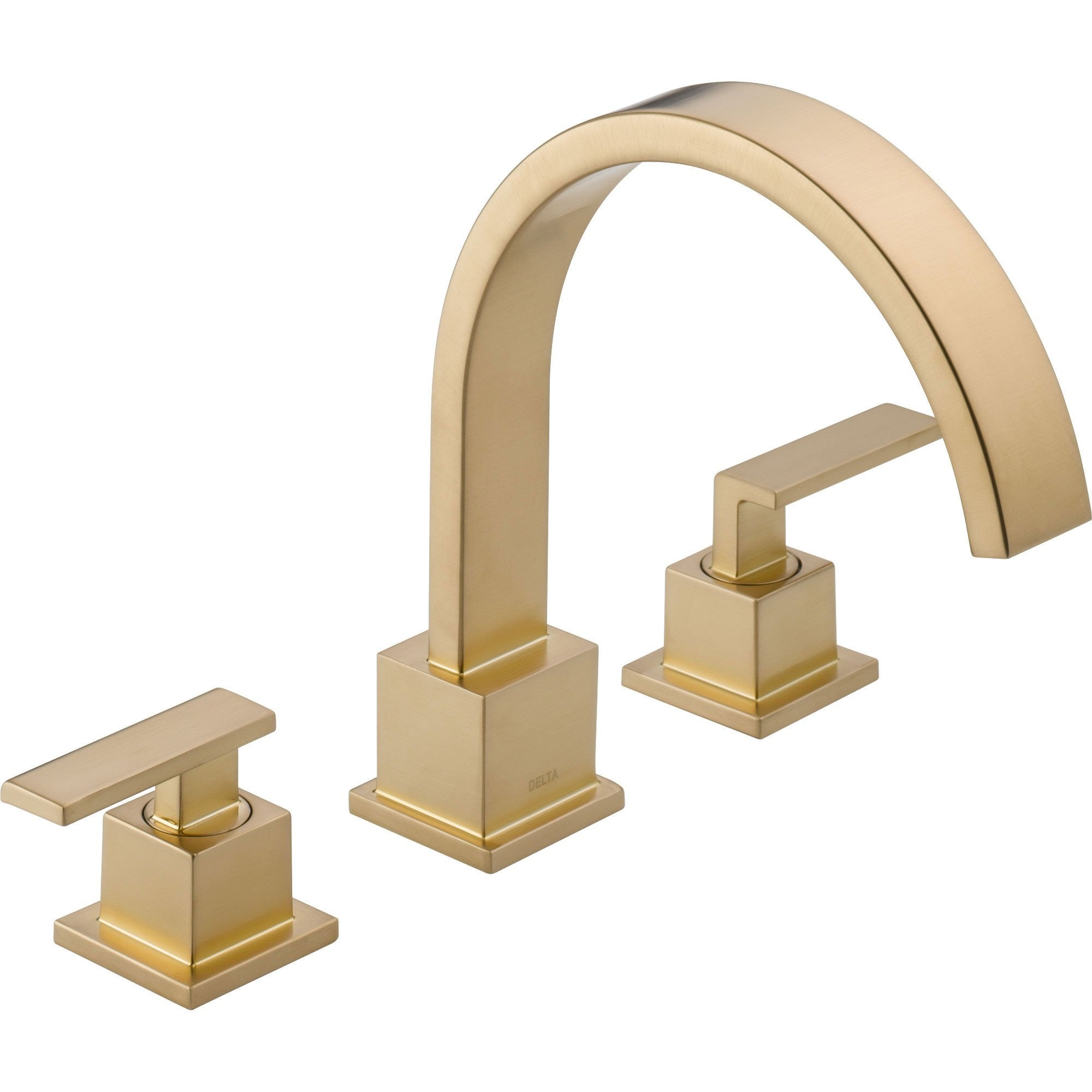 Delta Vero Modern Champagne Bronze Roman Tub Filler Faucet with Valve D905V