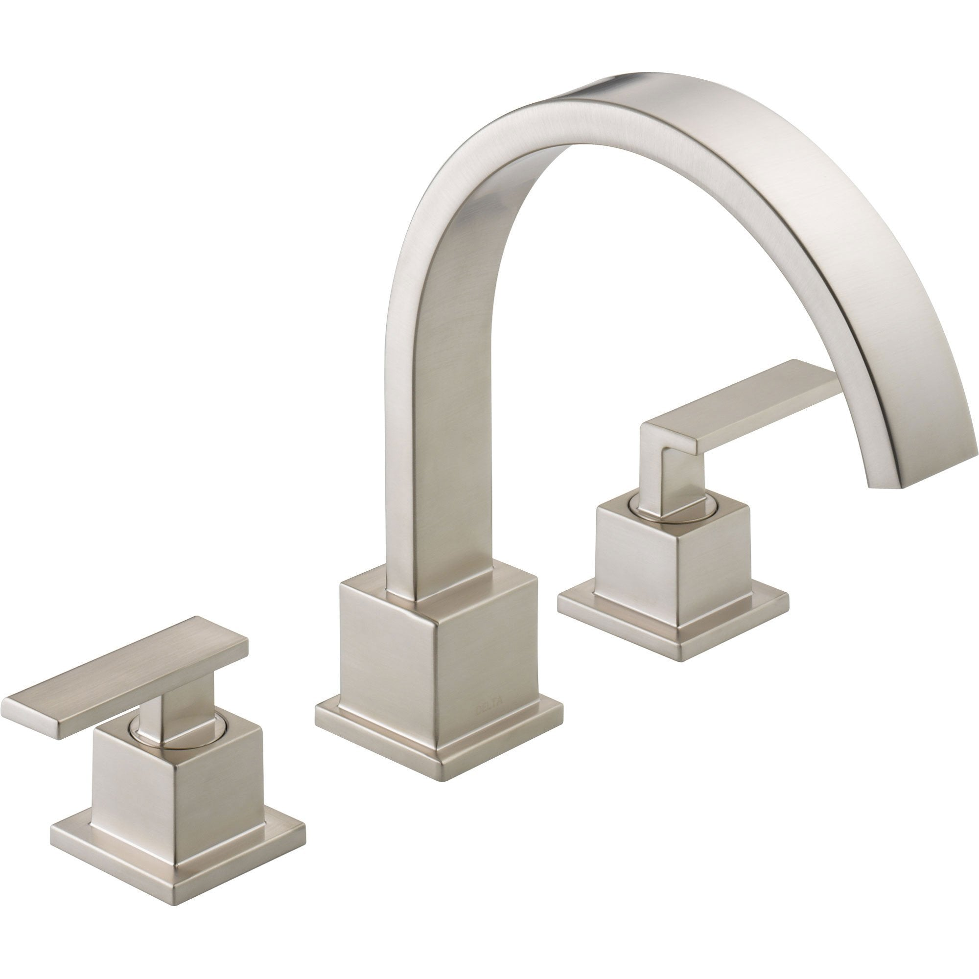 Delta Vero Modern Stainless Steel Finish Roman Tub Faucet with Valve D907V
