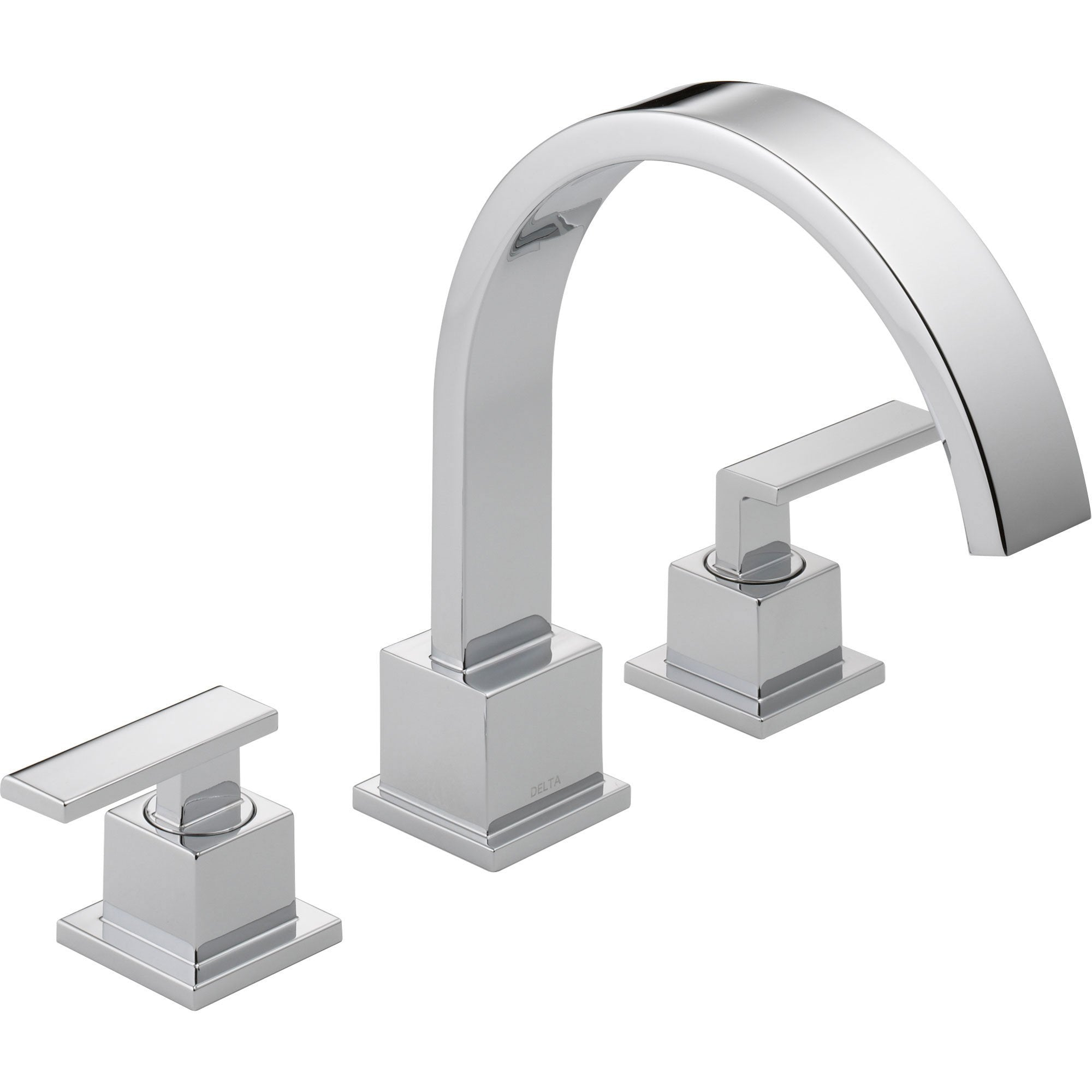 Delta Vero Modern Chrome 2-Handle Roman Tub Filler Faucet Trim Kit 521906