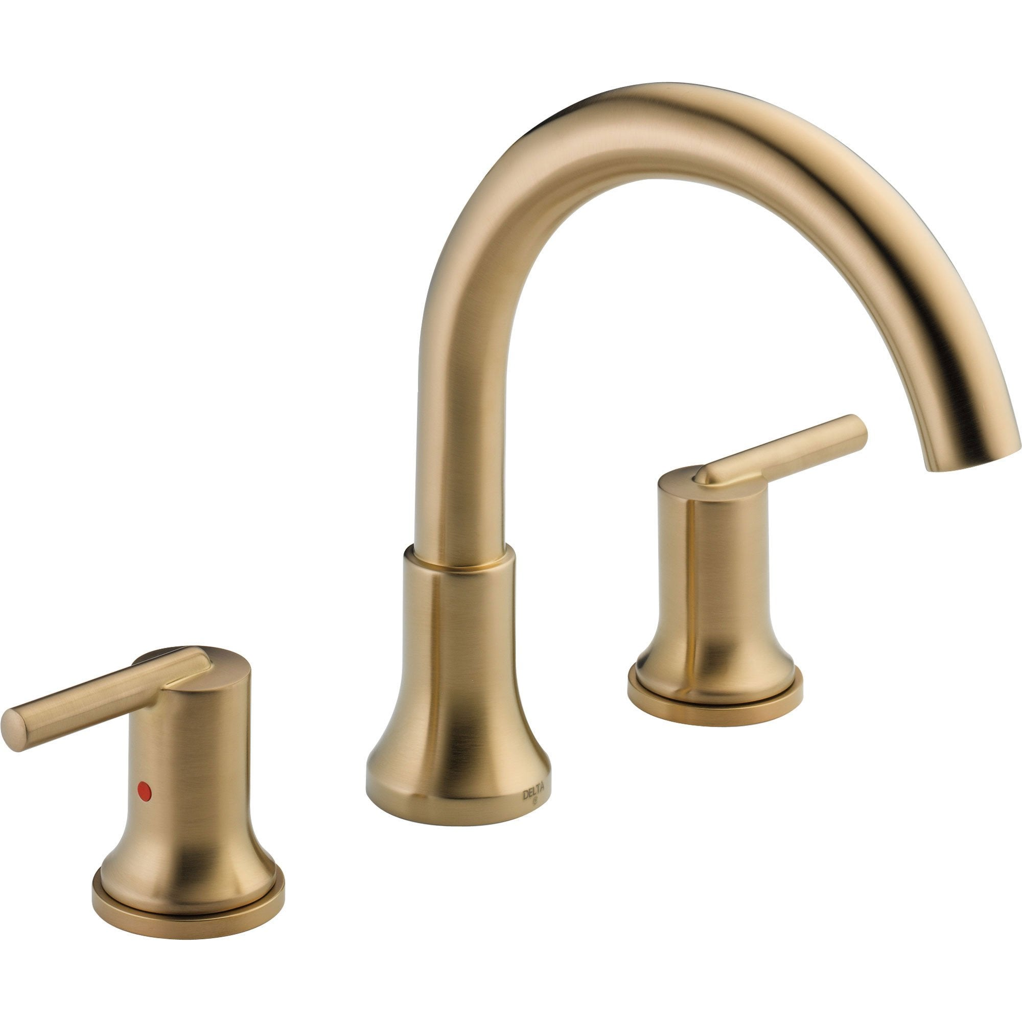 Delta Trinsic Modern Champagne Bronze Roman Tub Filler Faucet with Valve D909V