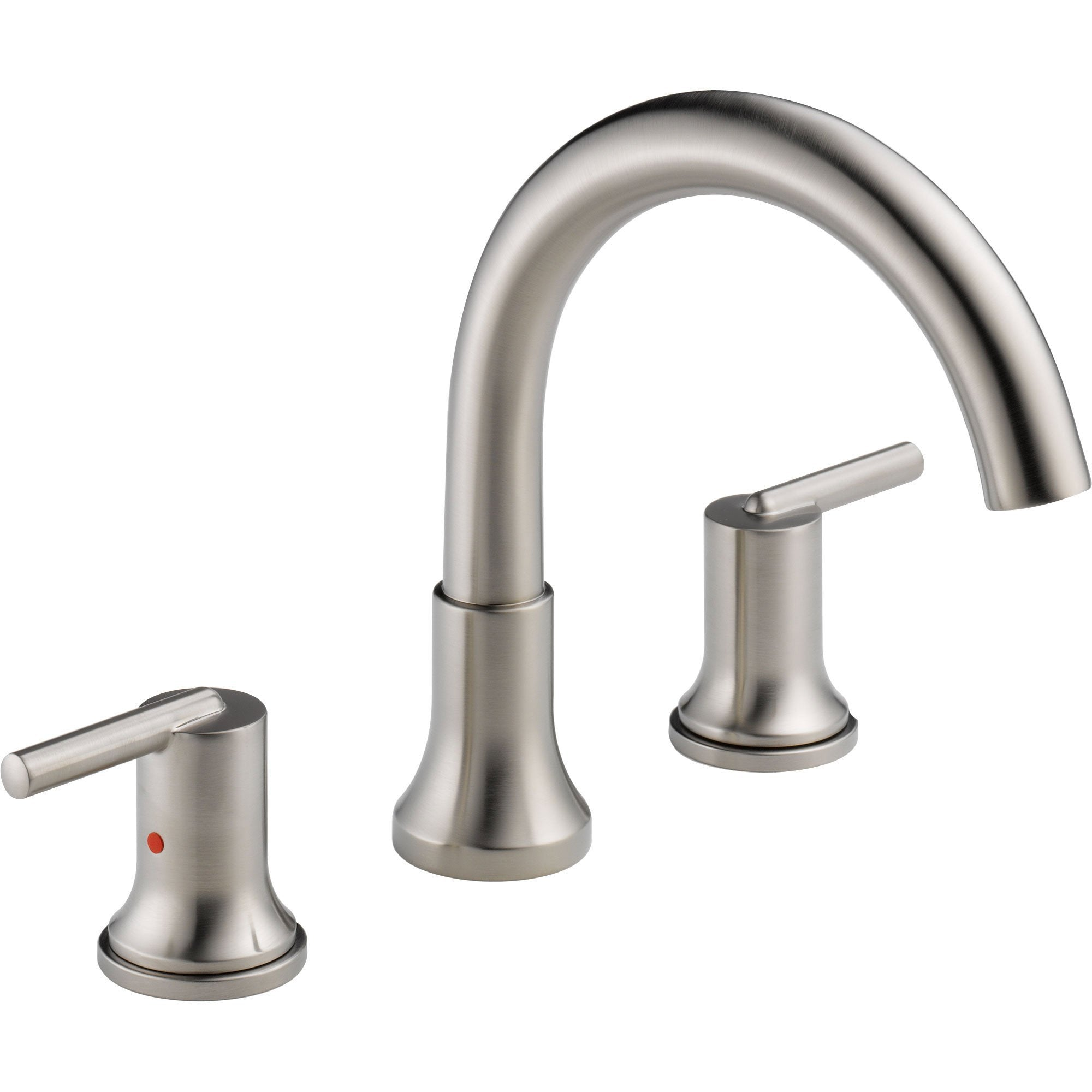 Delta Trinsic Modern Stainless Steel Finish Roman Tub Faucet with Valve D911V