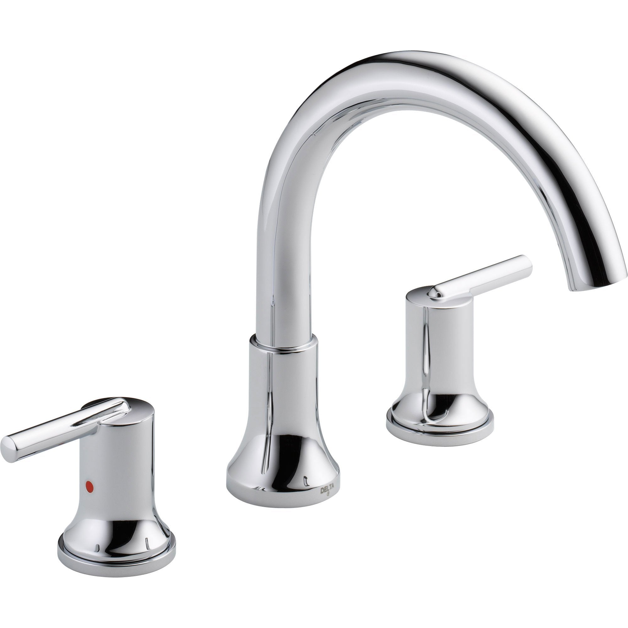 Delta Trinsic Modern Chrome 2-Handle Roman Tub Filler Faucet with Valve D908V