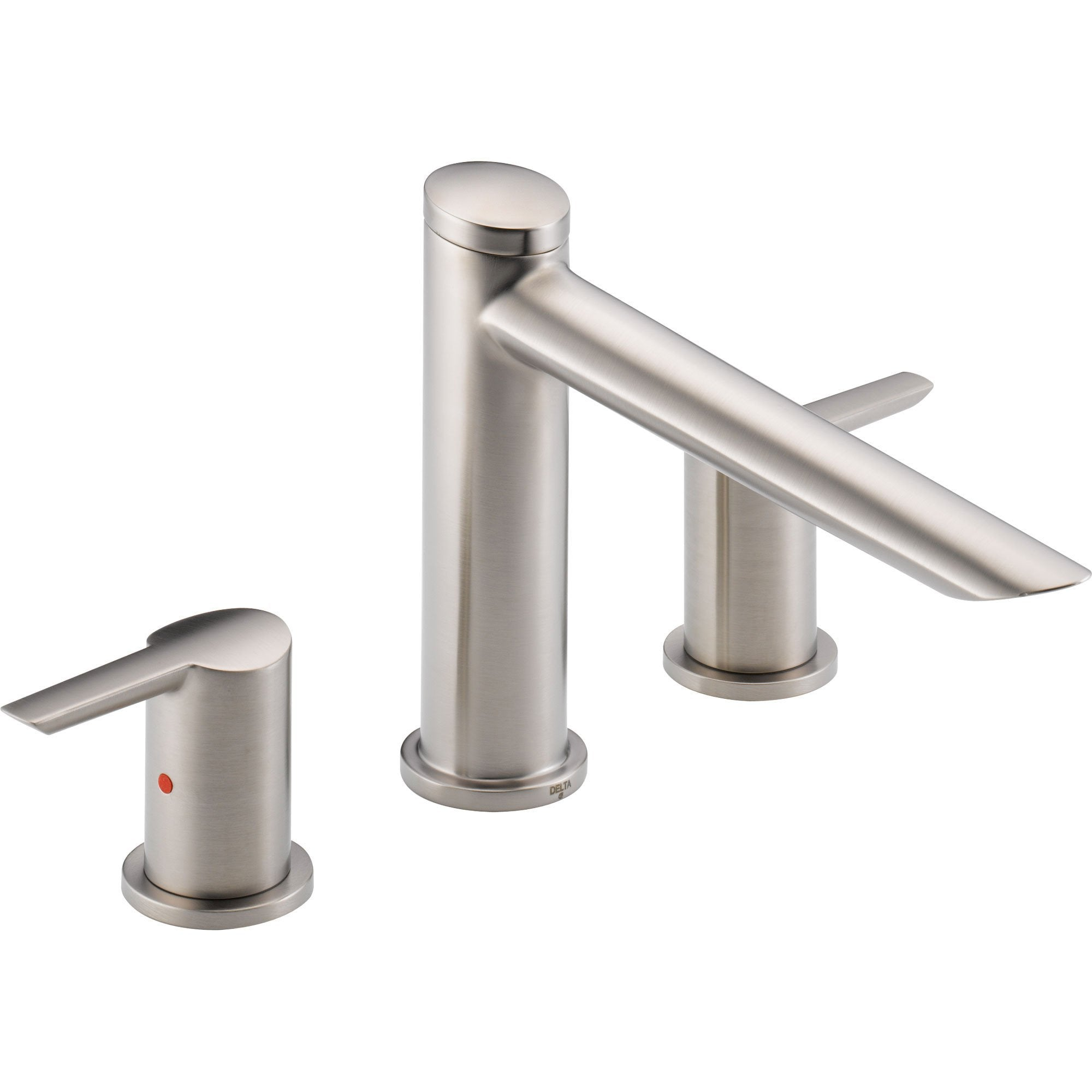 Delta Compel Modern Stainless Steel Finish Roman Tub Filler Faucet Trim 584058