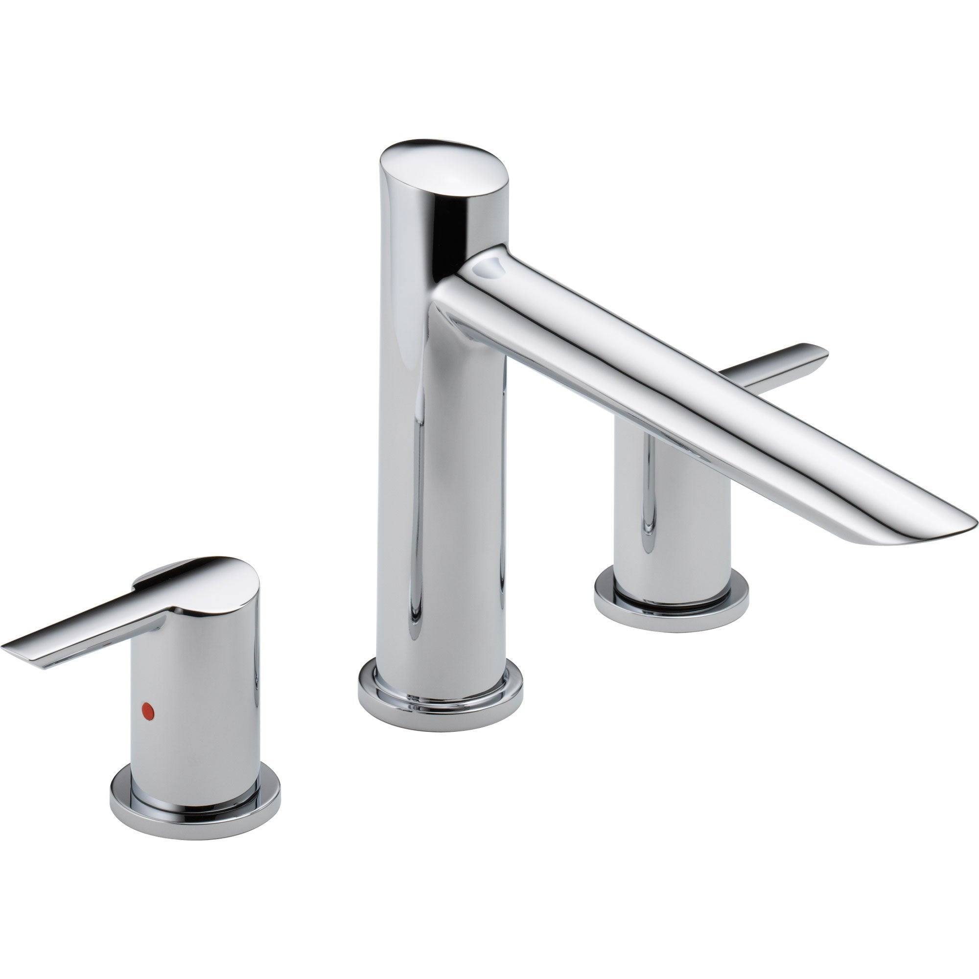 Delta Compel Modern Chrome 2-Handle Roman Tub Filler Faucet Trim Kit 584056