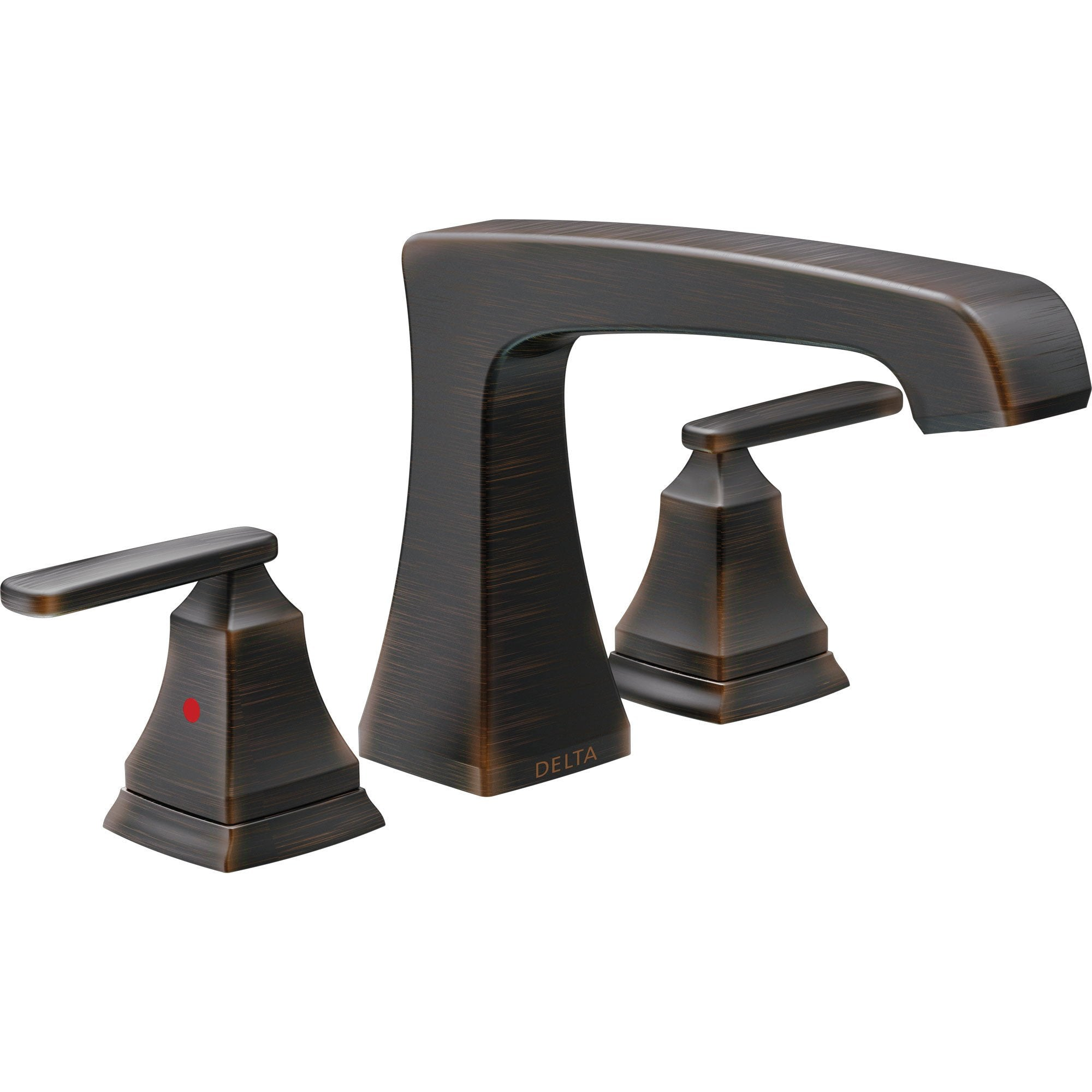 Delta Ashlyn Modern Venetian Bronze Finish Roman Tub Filler Faucet INCLUDES Valve and Lever Handles D1093V